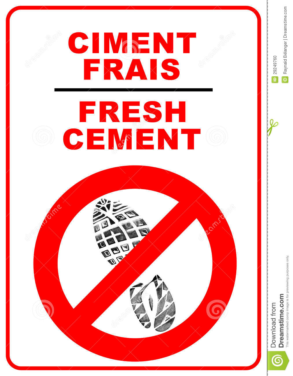Cement Sign Stock Photo Image 29249760