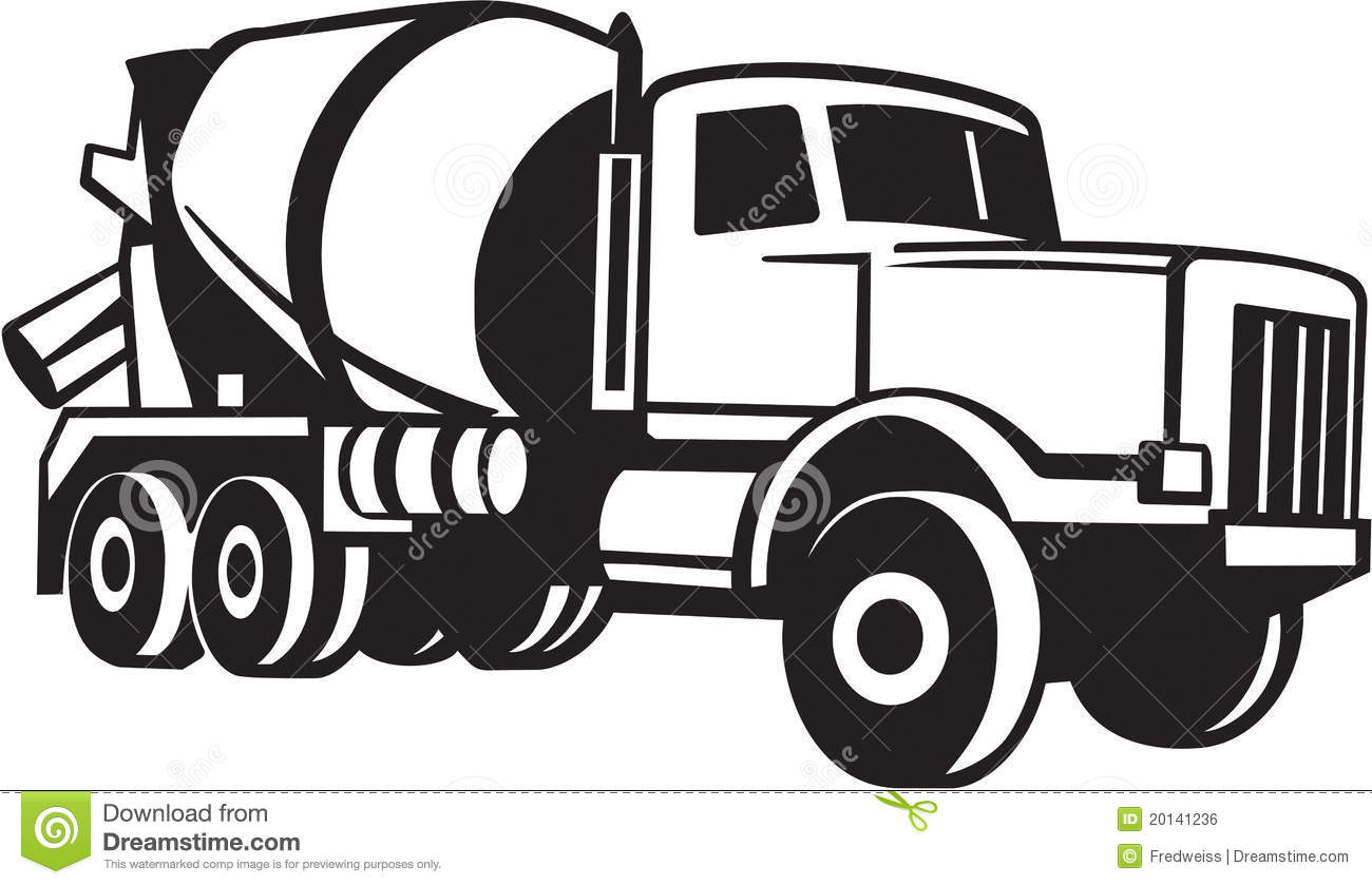 cement truck illustration royalty free stock image image 20141236