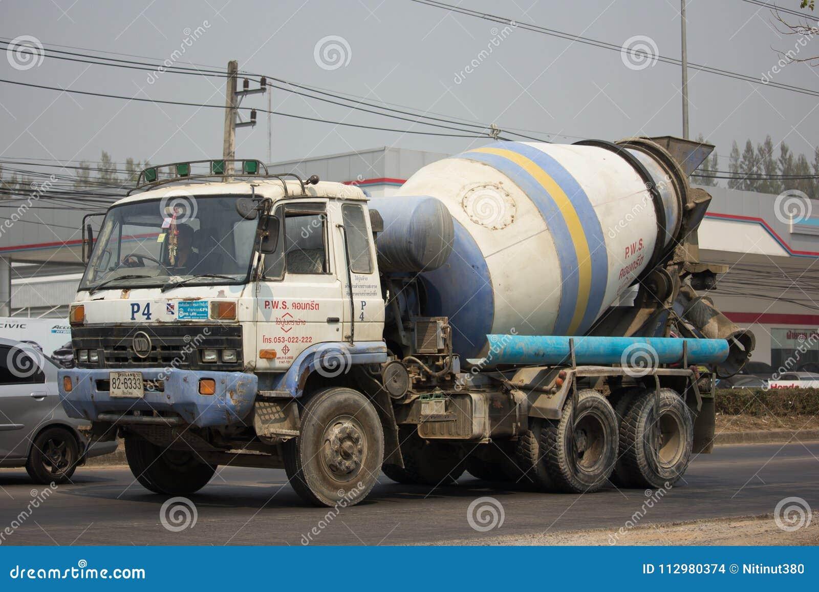 Cement truck of PWS Concrete.