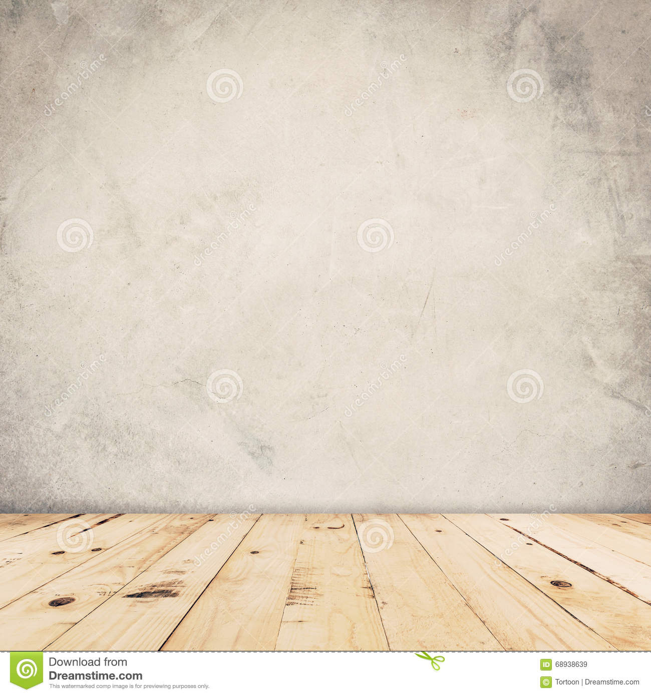 wood floor and wall background. Cement Wall Background And Wood Floor S