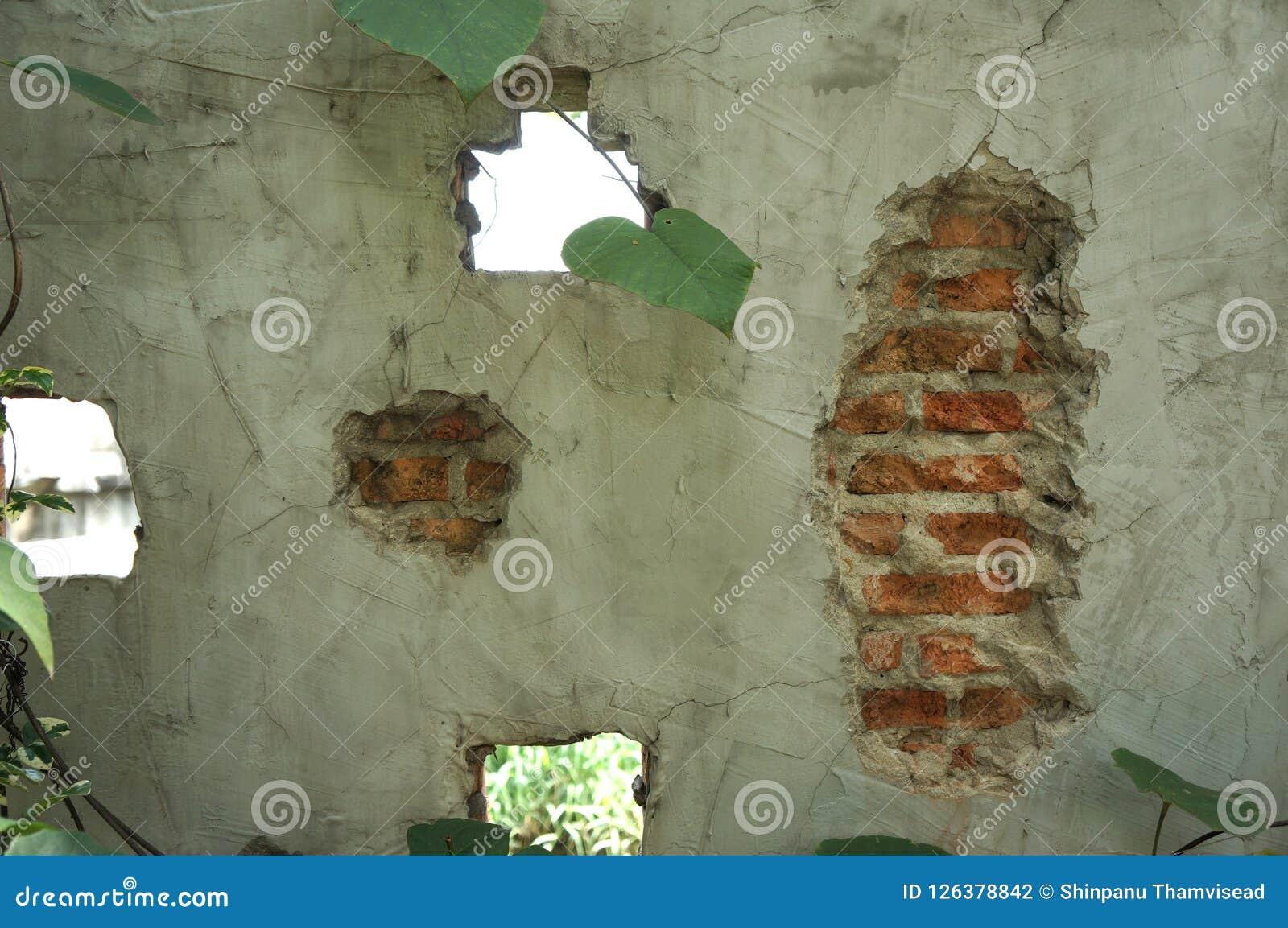 Cementera textur, väggar för röd tegelsten, idéer för vindstildesign