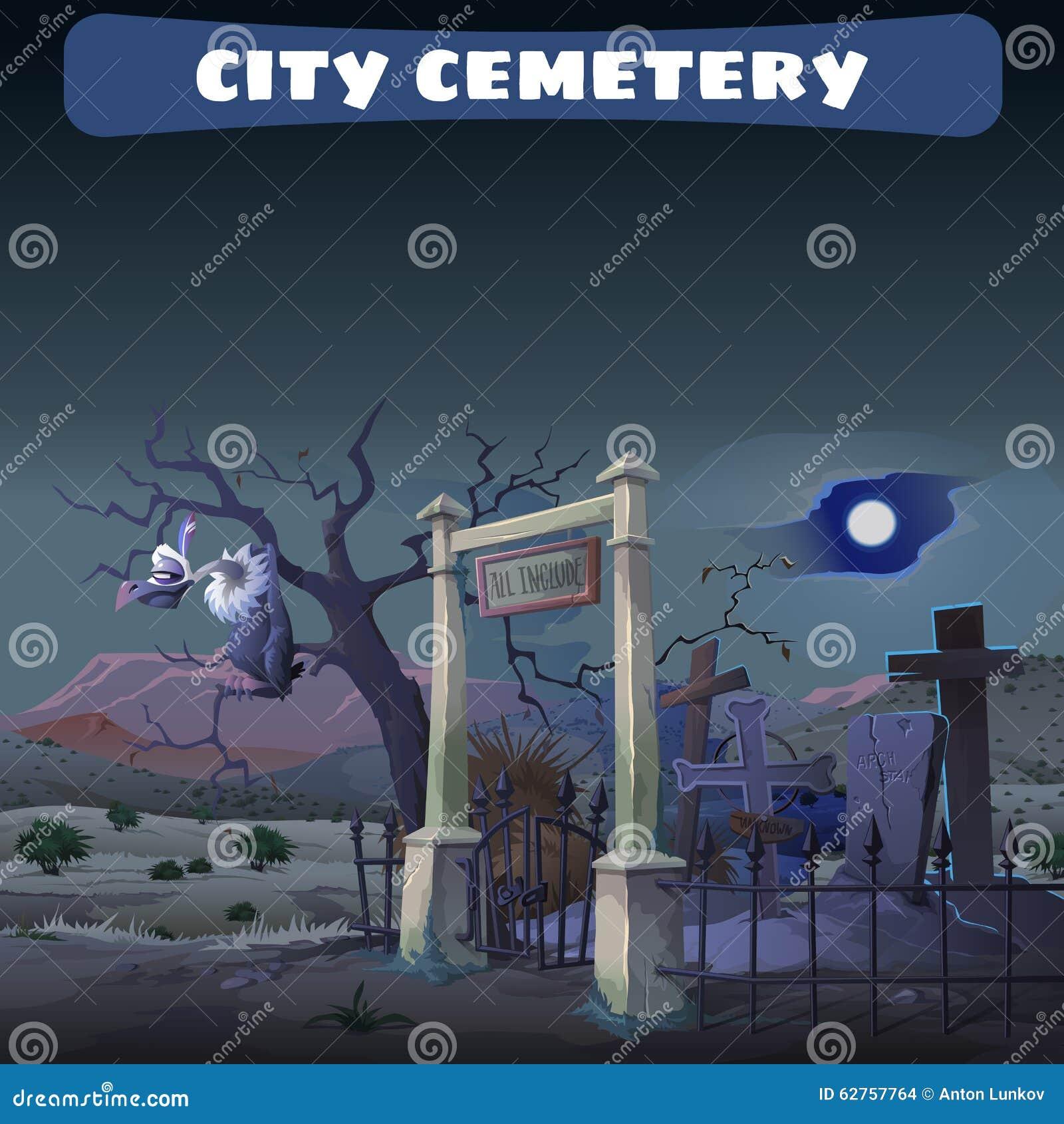 Cementerio abandonado en el desierto y el guardia Gryphon