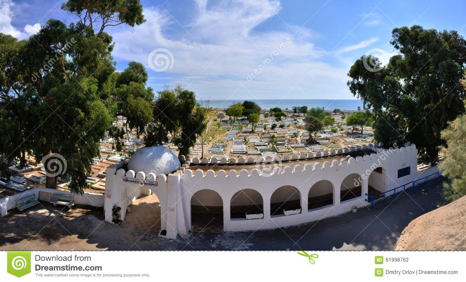 Cementerio antiguo cerca de Medina, Hammamet, Túnez, S mediterráneo