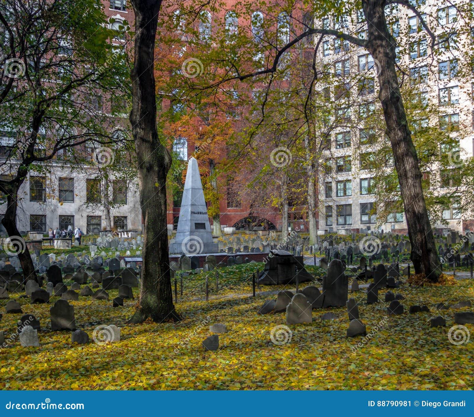 Cementerio de la tierra de entierro del granero - Boston, Massachusetts, los E.E.U.U.