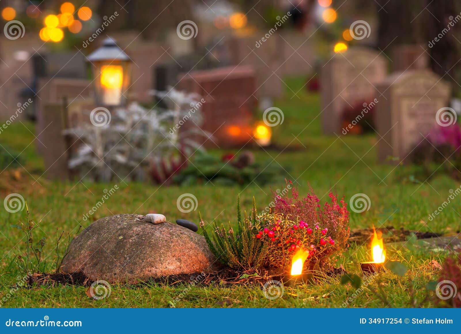 Cementerio en la tarde