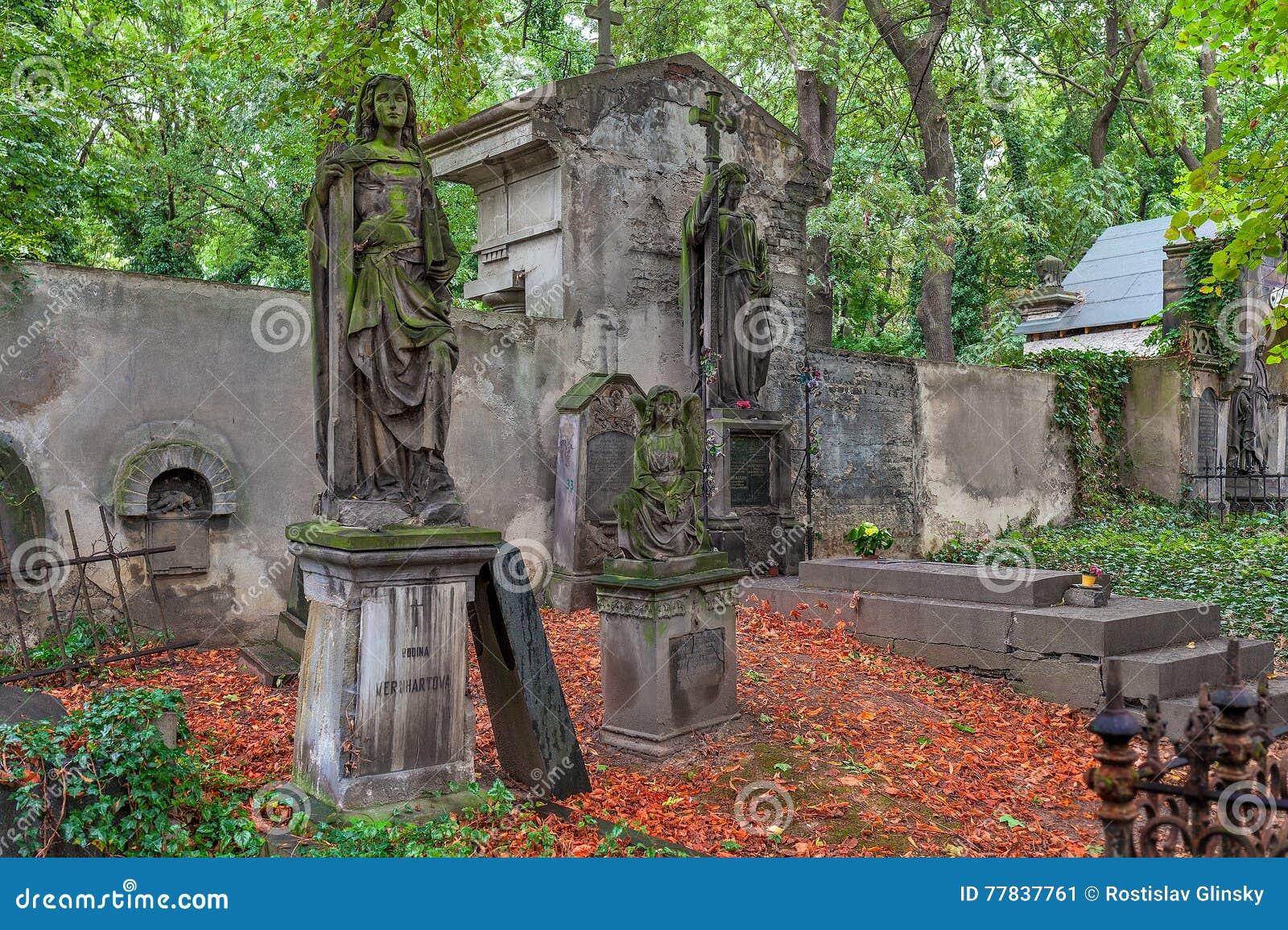 Cementerio viejo en Praga