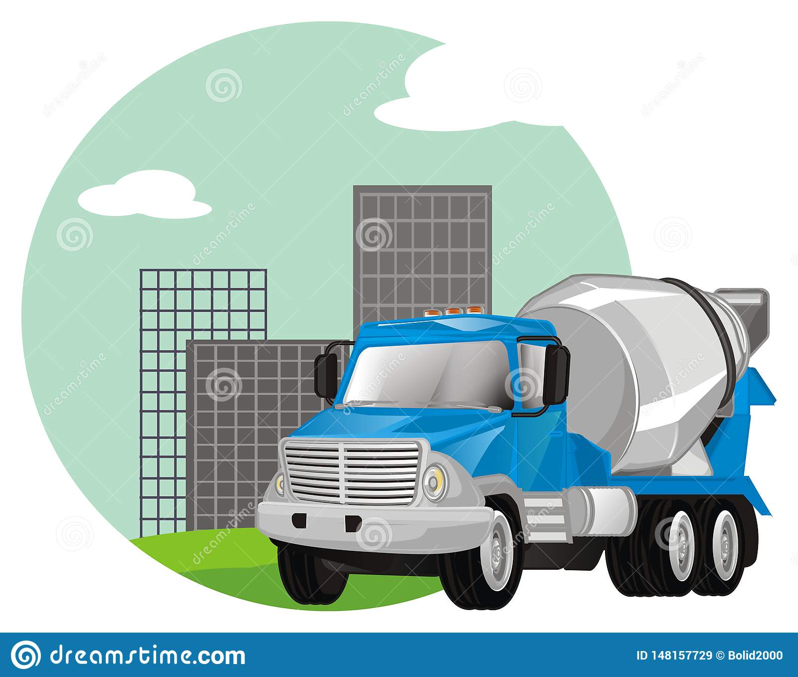 Cementowa ciężarówka z ikoną