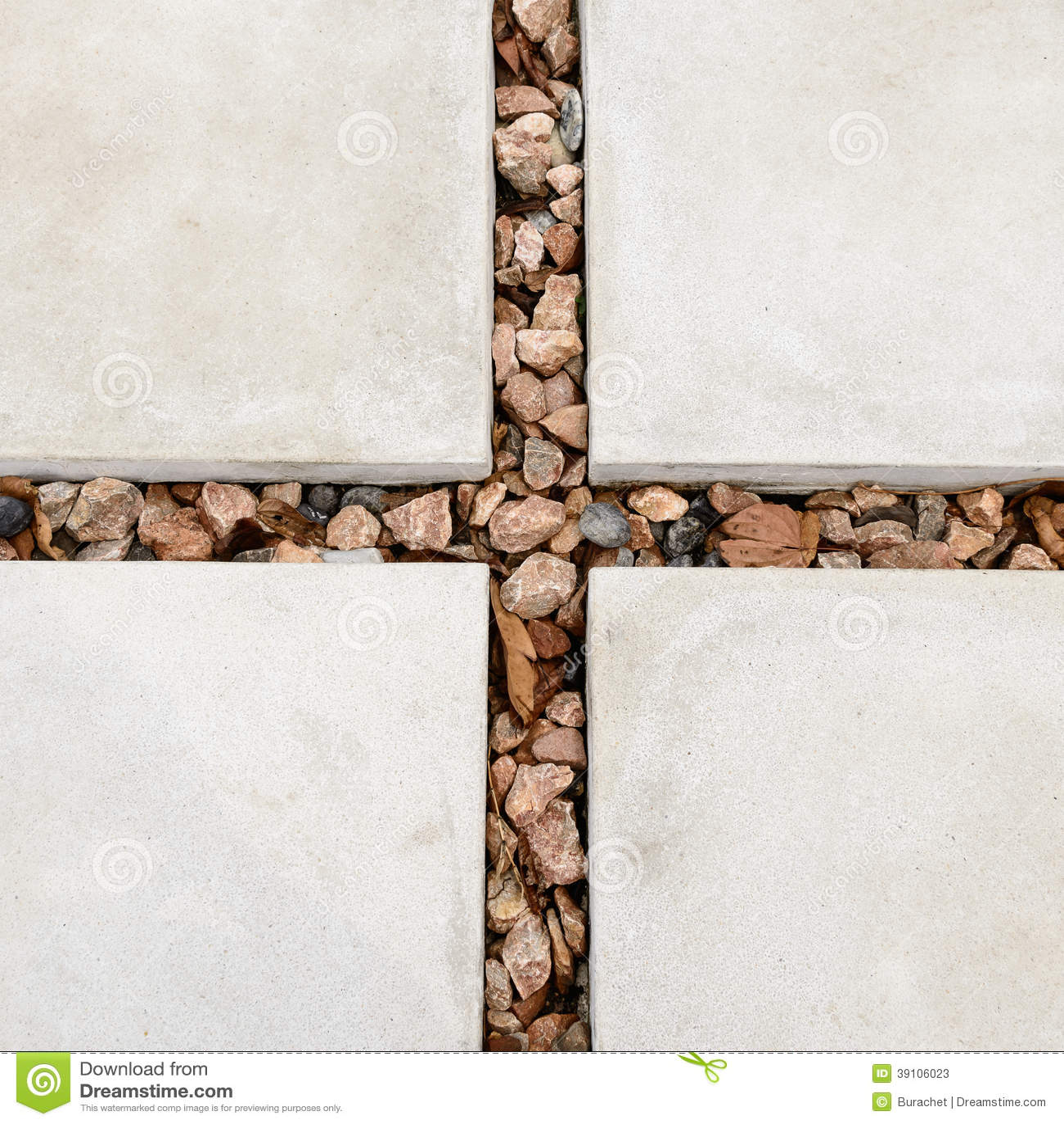 Cementplaat en steen