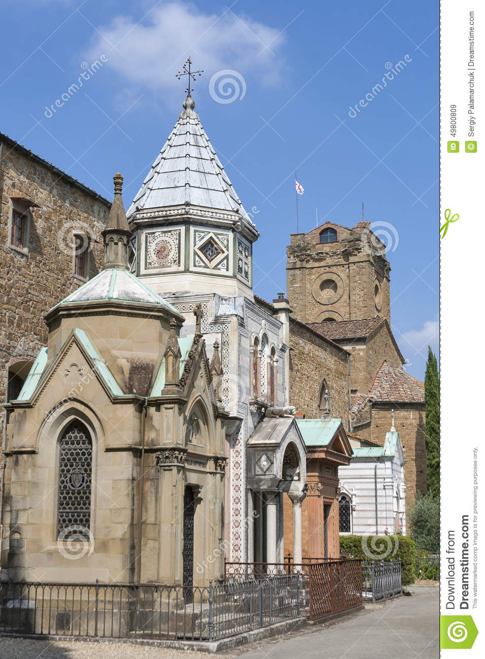 cemetery delle porte sante in florence stock photo image