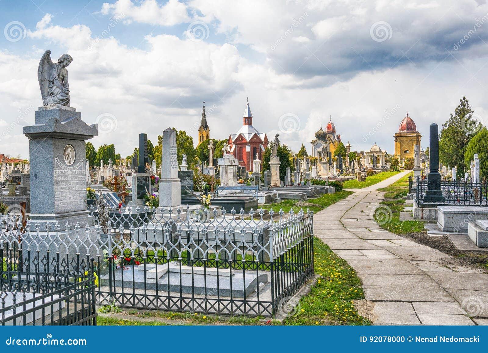 Cemetery/Graveyard In Subotica, Serbia Editorial Image