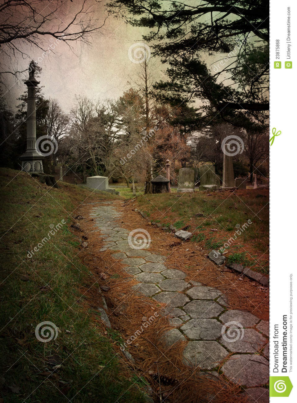 Download Cemetery Path stock photo. Image of funeral, somber, grief - 23875868
