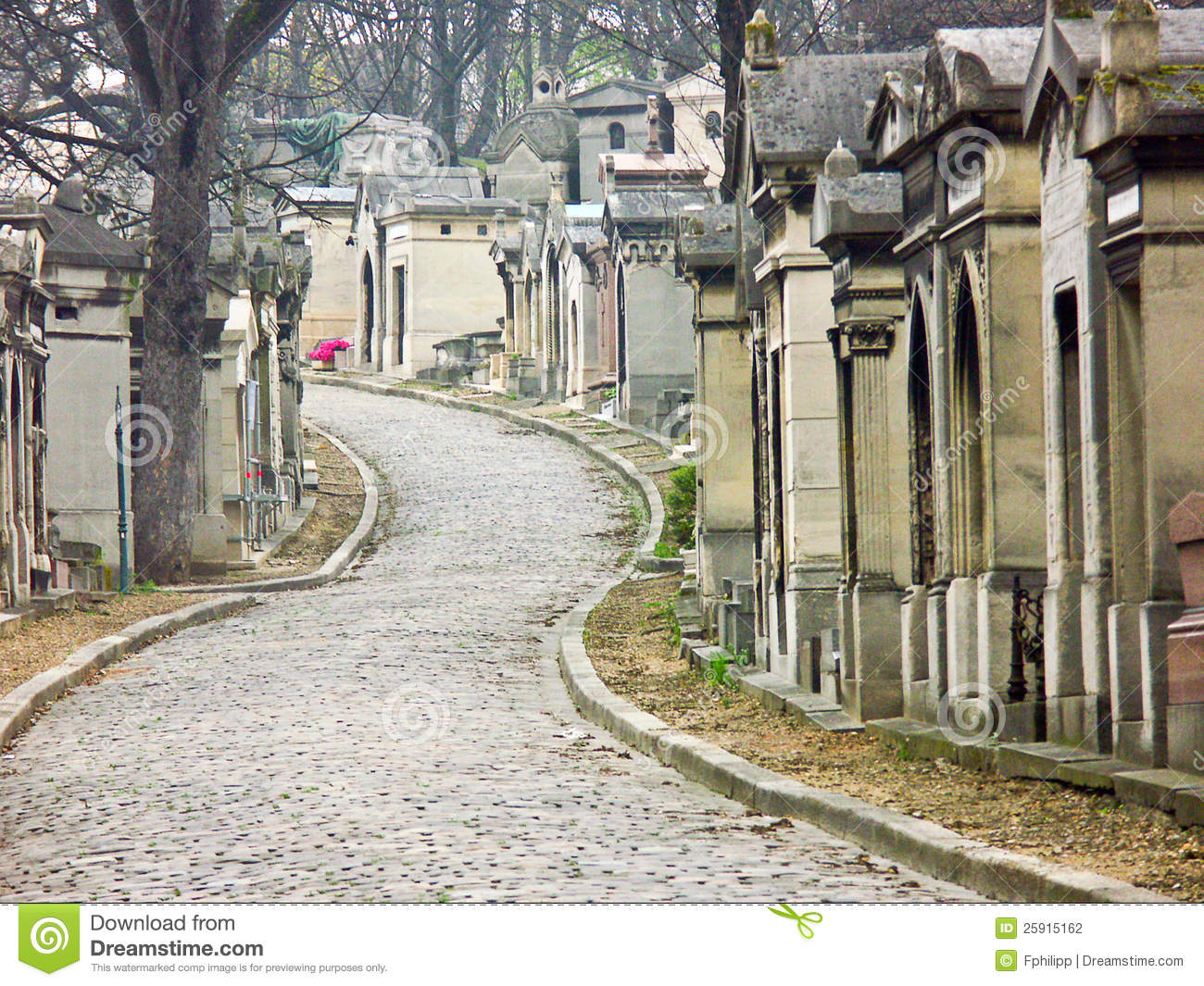 Cemetery of pere lachaise paris france stock photo for Chaise francaise