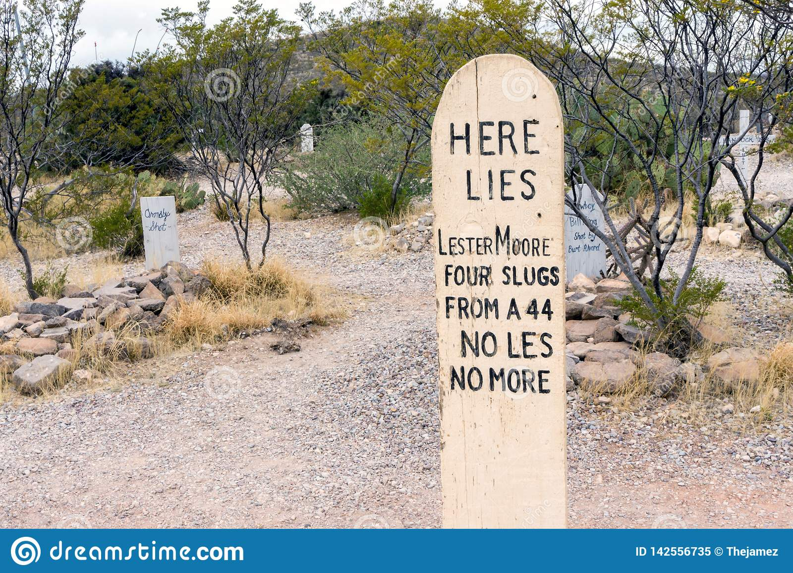Cemitério de Boothill na lápide, o Arizona