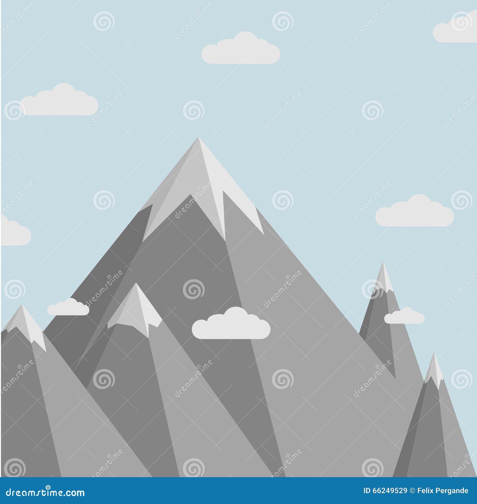 Cenário da montanha de Minimalistic