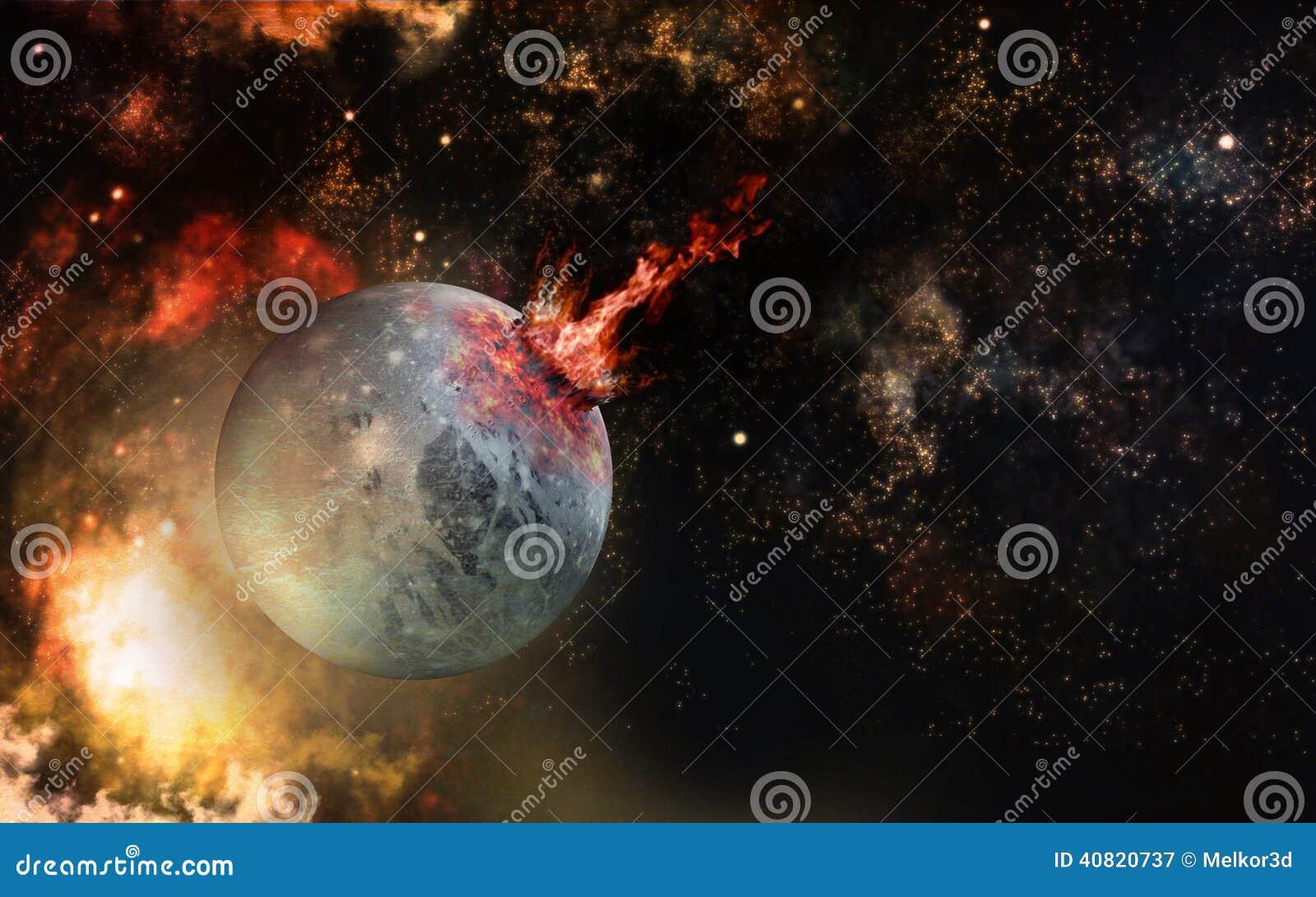 Cenário do impacto do espaço