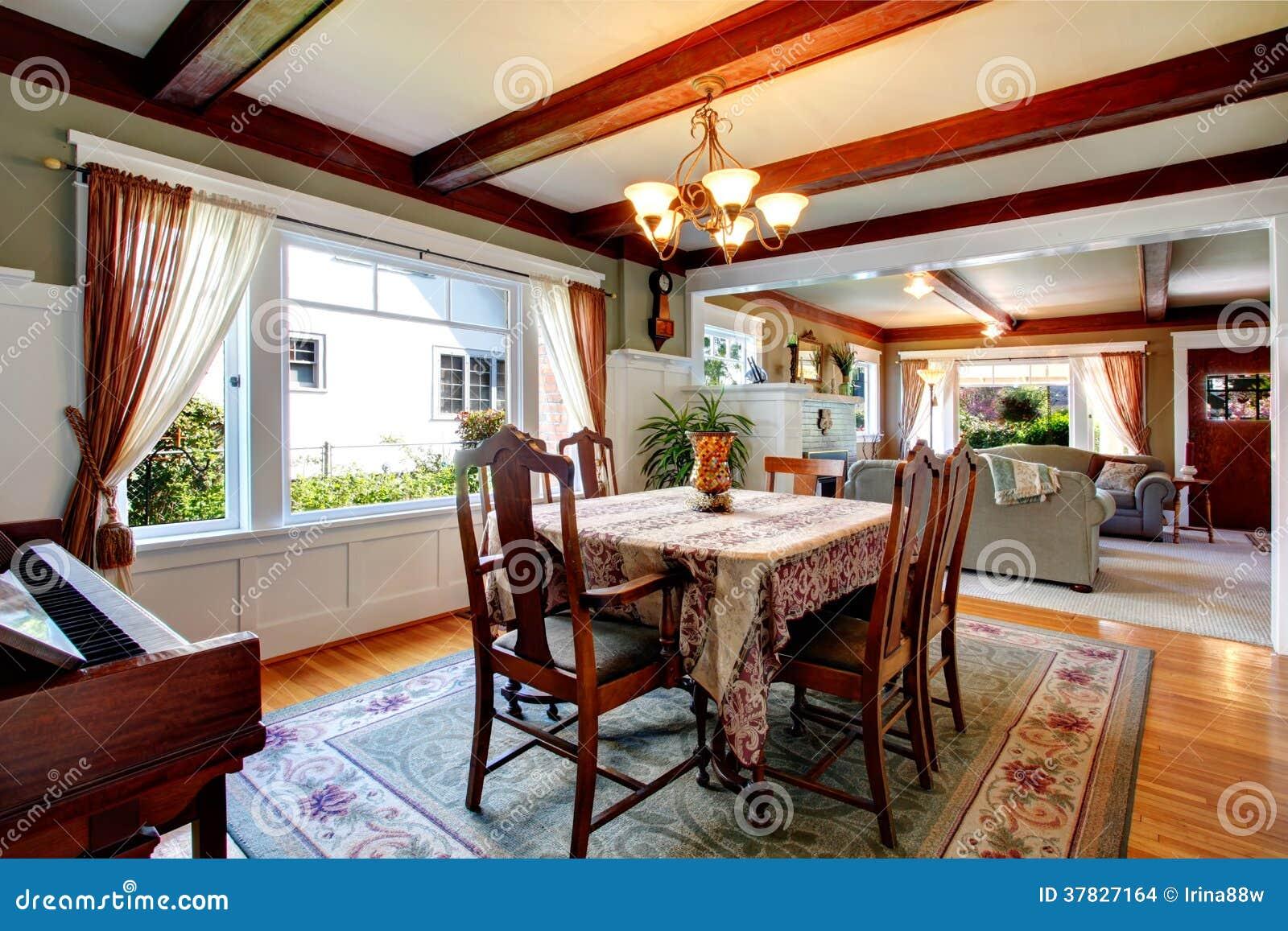 cena abierta y sala de estar del dise o de la pared