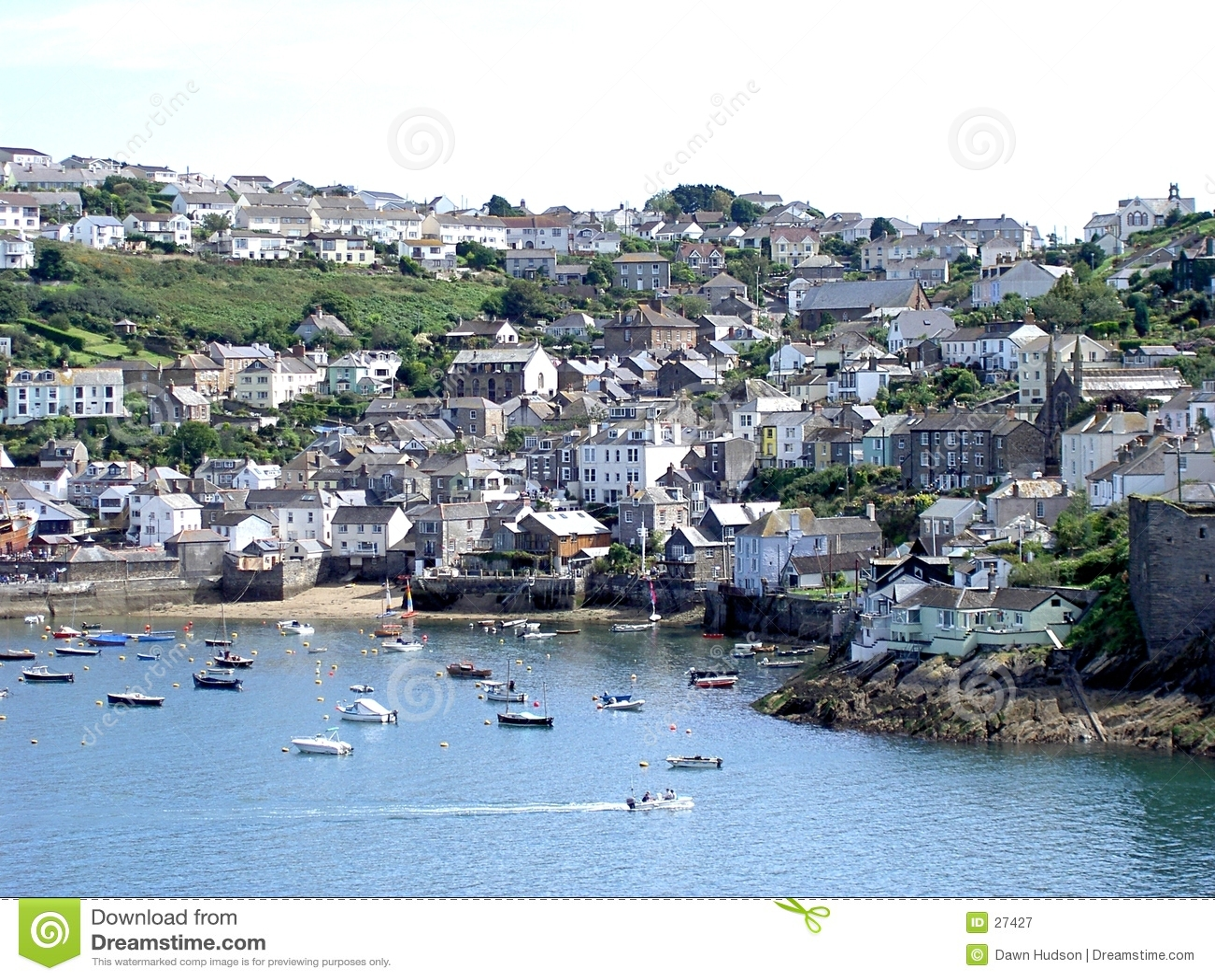 Cena Cornish do porto