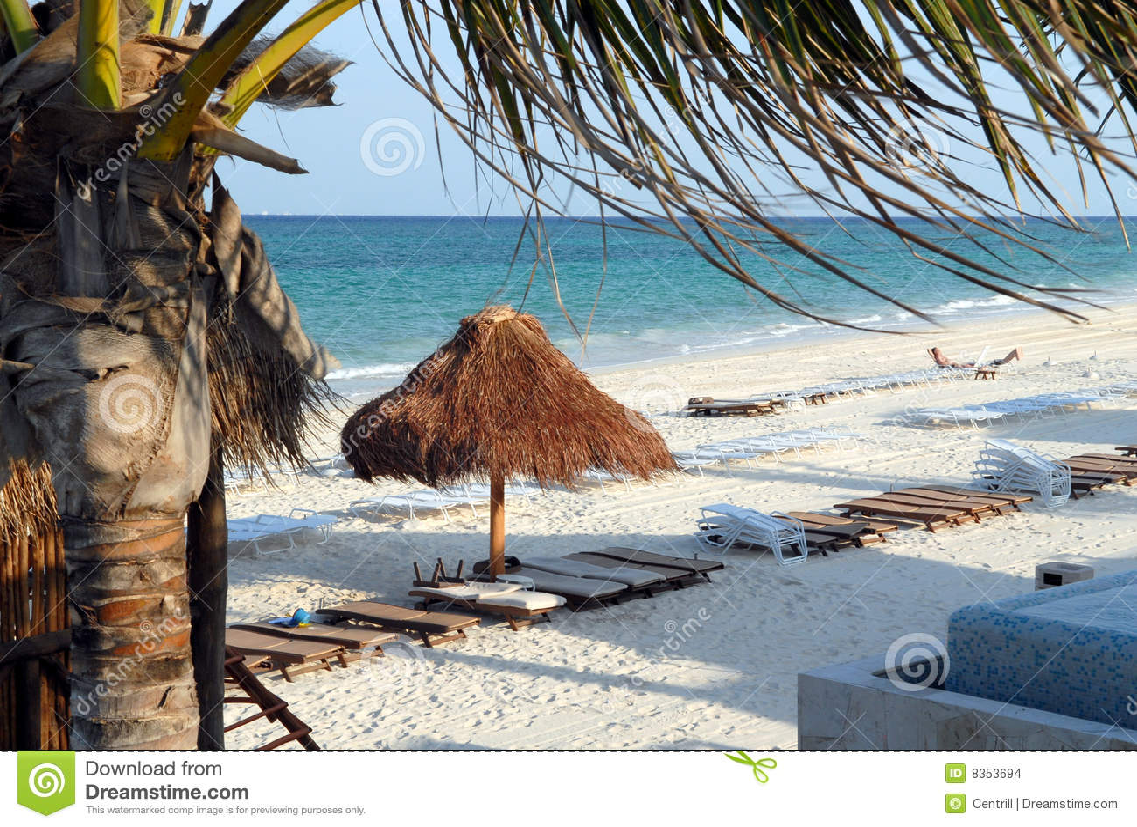 Cena da praia de Mayakoba México