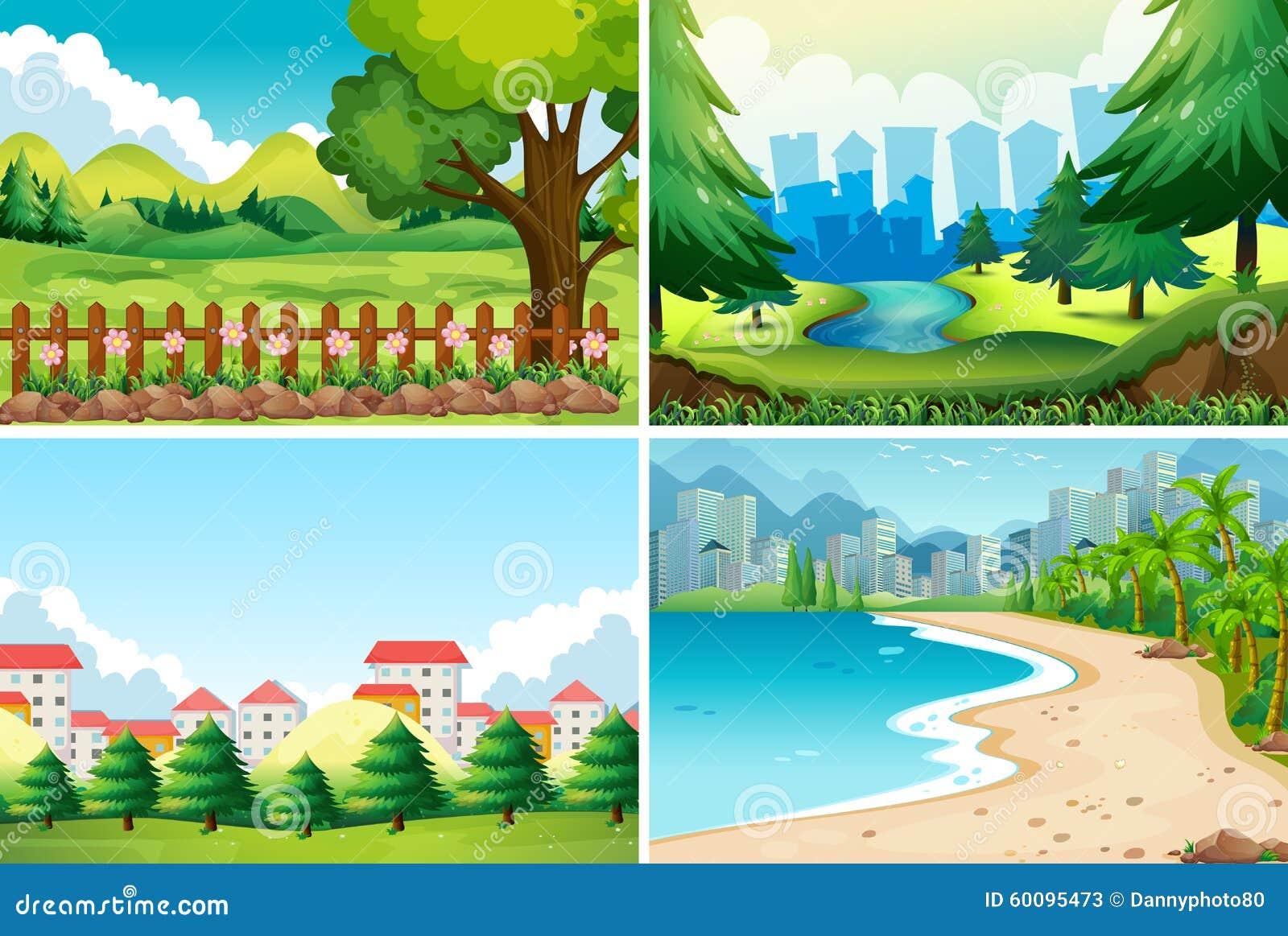 Cena de quatro naturezas no dia