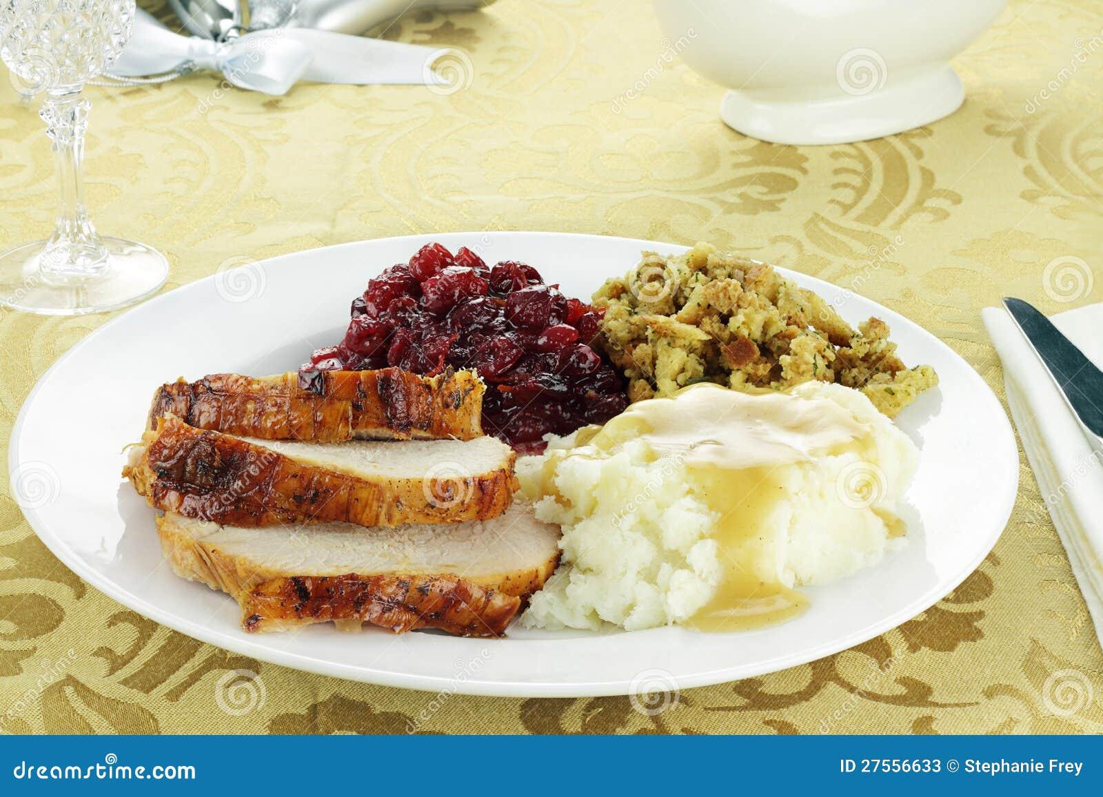 Cena de Turquía de la acción de gracias