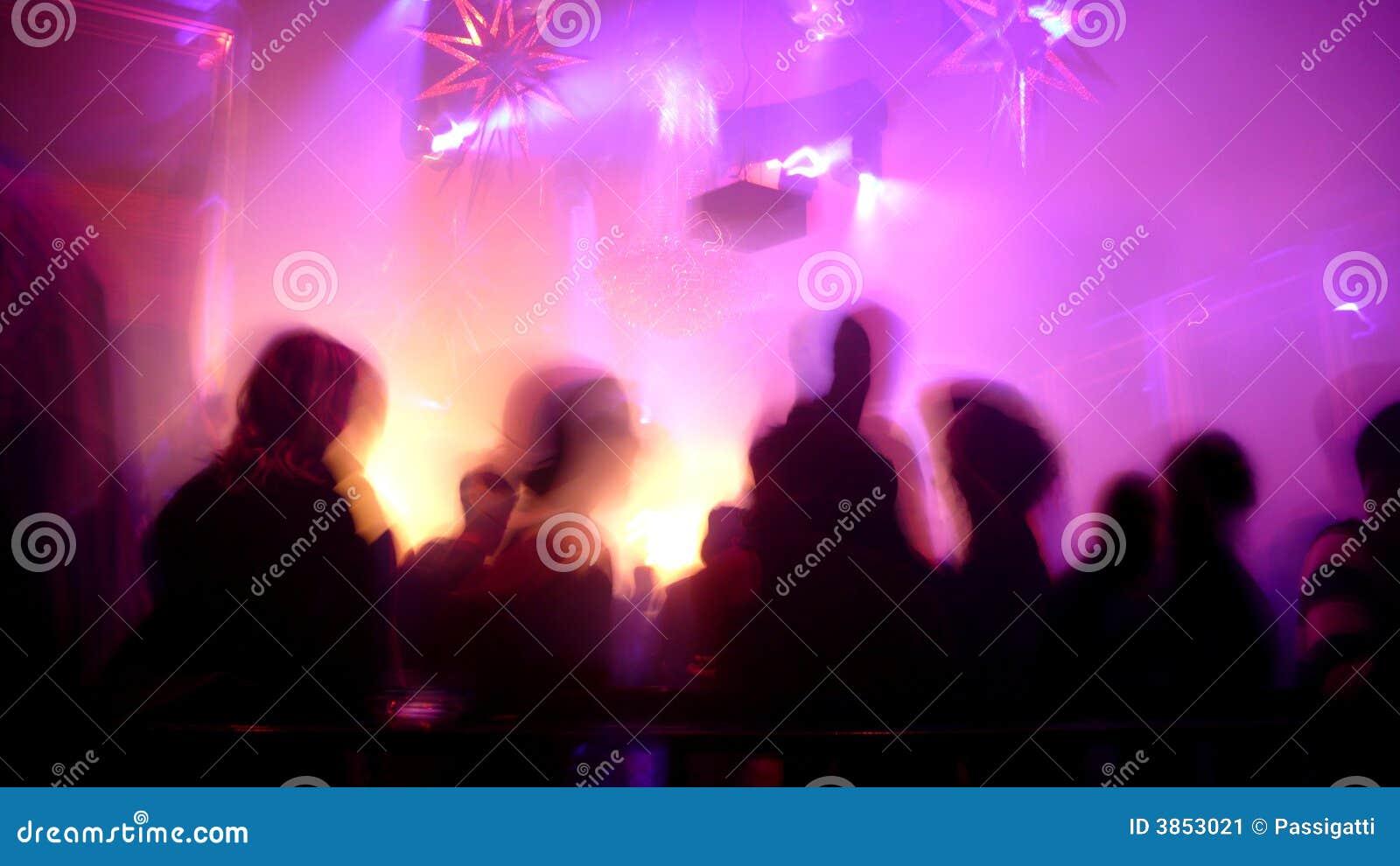 Cena do clube nocturno
