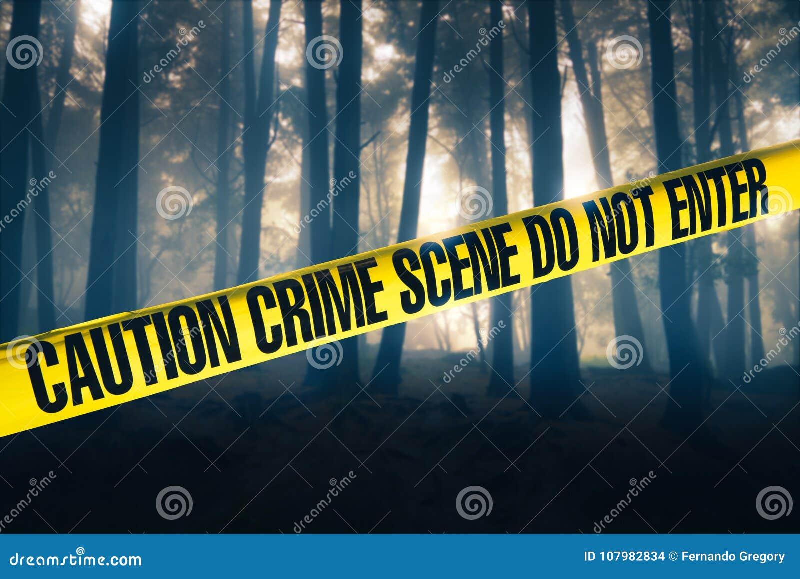 Cena do crime nas madeiras
