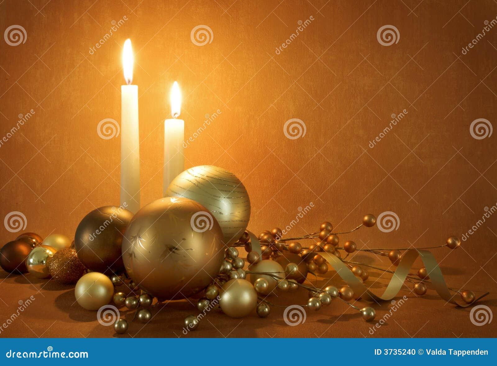 Cena dourada do Natal