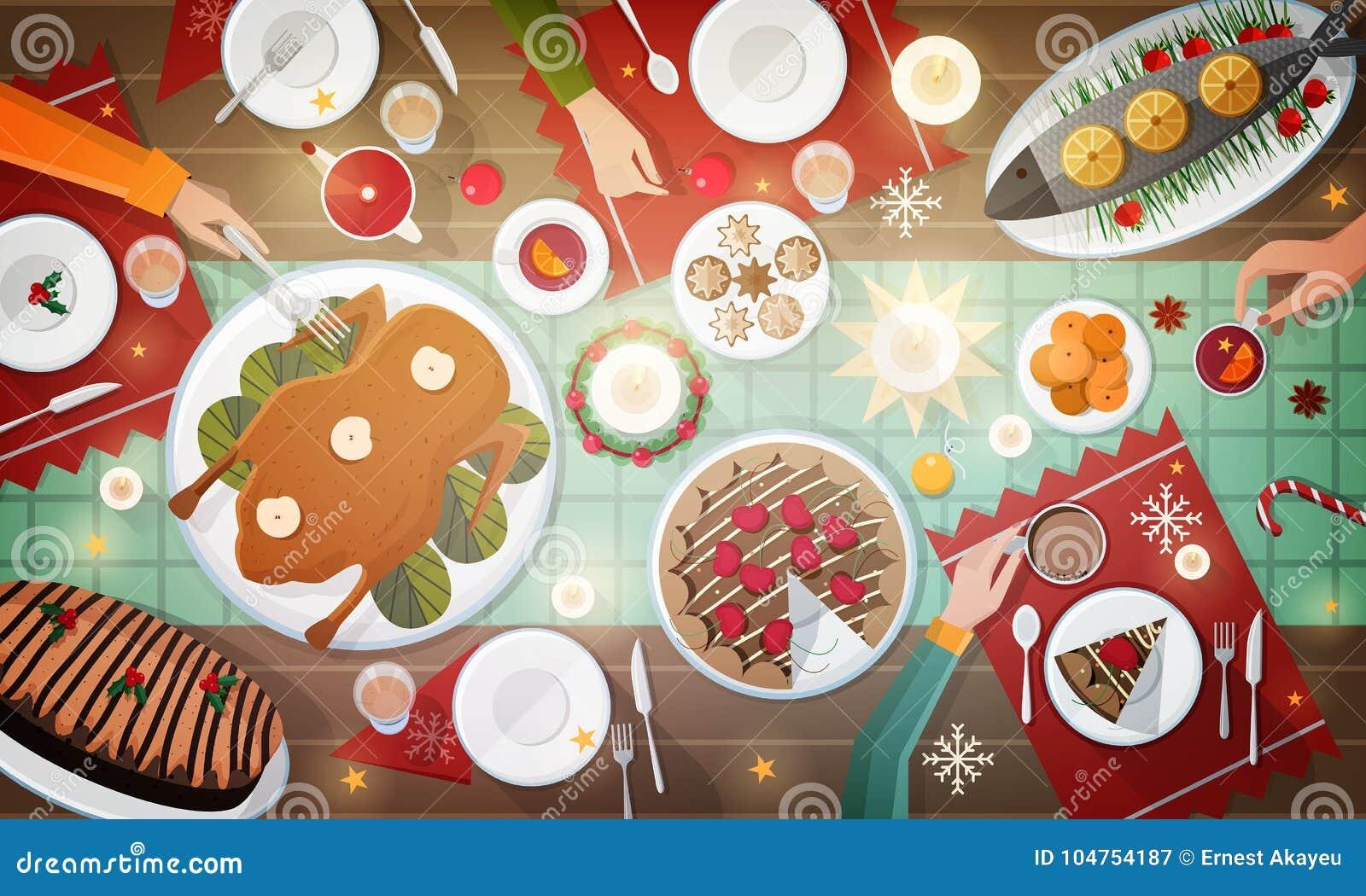 Pasti Di Natale.Cena Festiva Di Natale Pasti Tradizionali Deliziosi Di Festa
