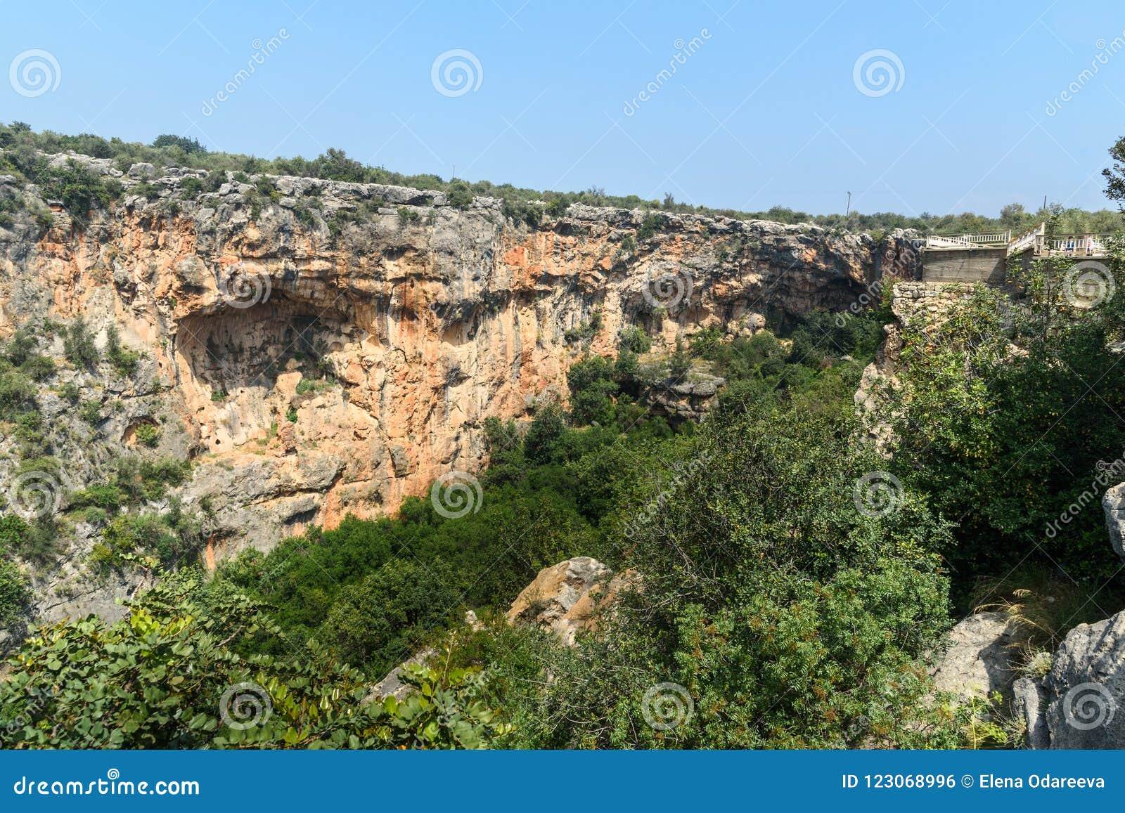 Cennet et Cehennem ou effondrements de ciel et d enfer en Taurus Mountains, dans la province de Mersin, la Turquie