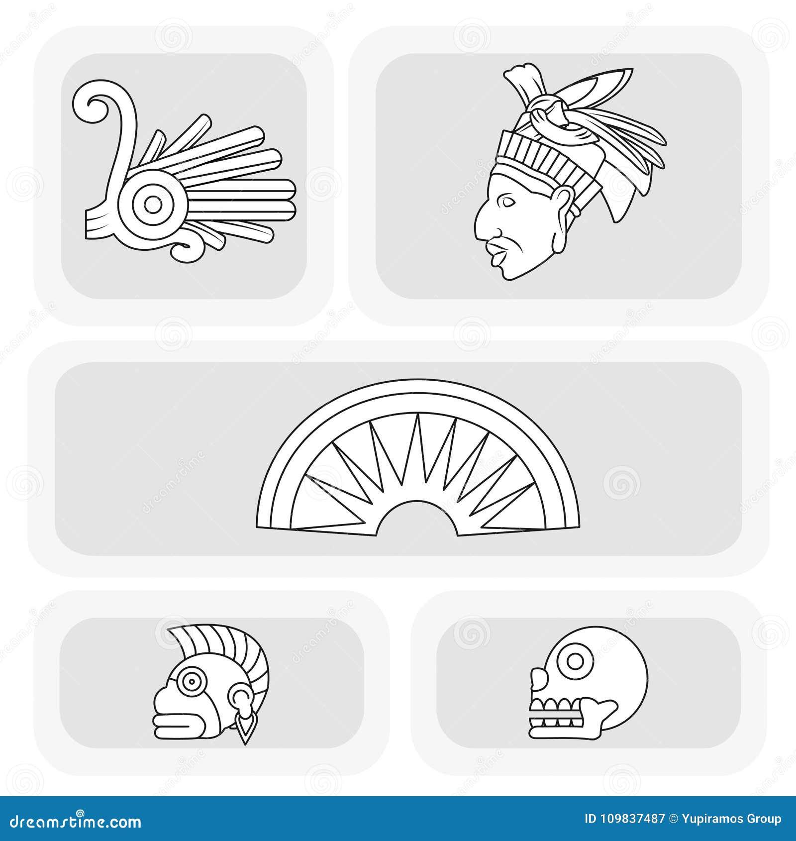 Cenografia do ícone do Maya
