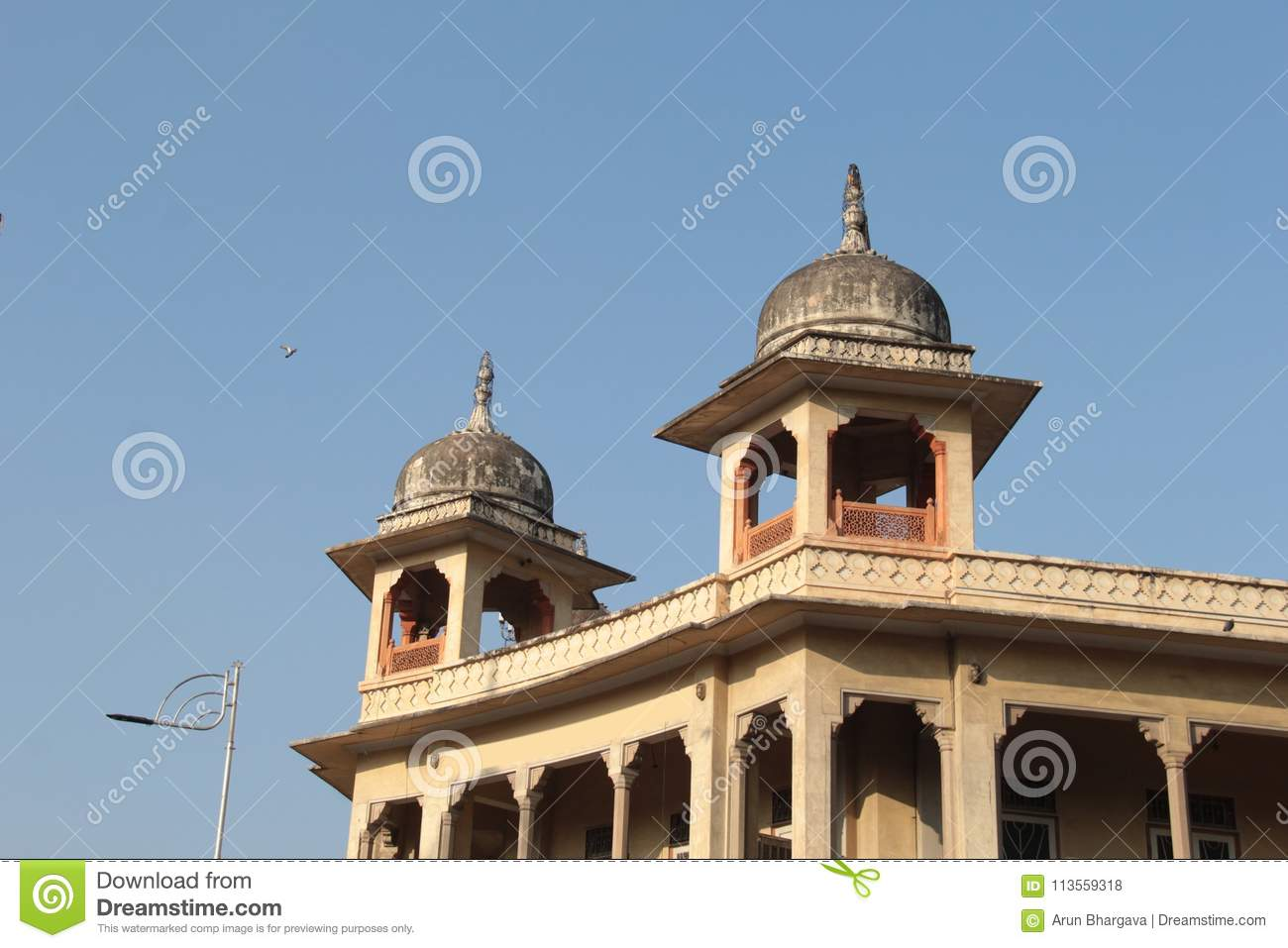 Cenotaphs Also Known As Chhatris Against Blue Sky In Rajasthan Stock