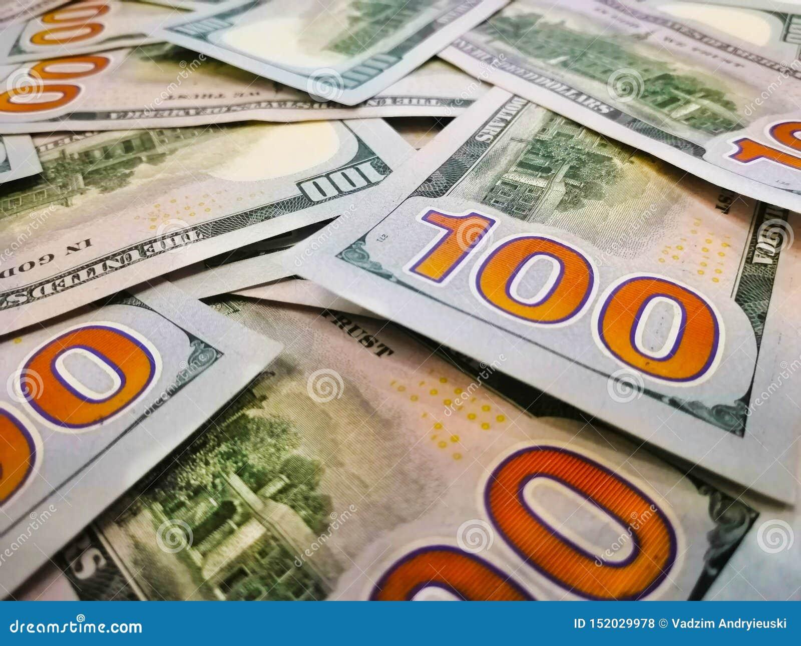 Cent billets de banque de dollars US Macro Image de couleur des dollars Verso du billet de banque