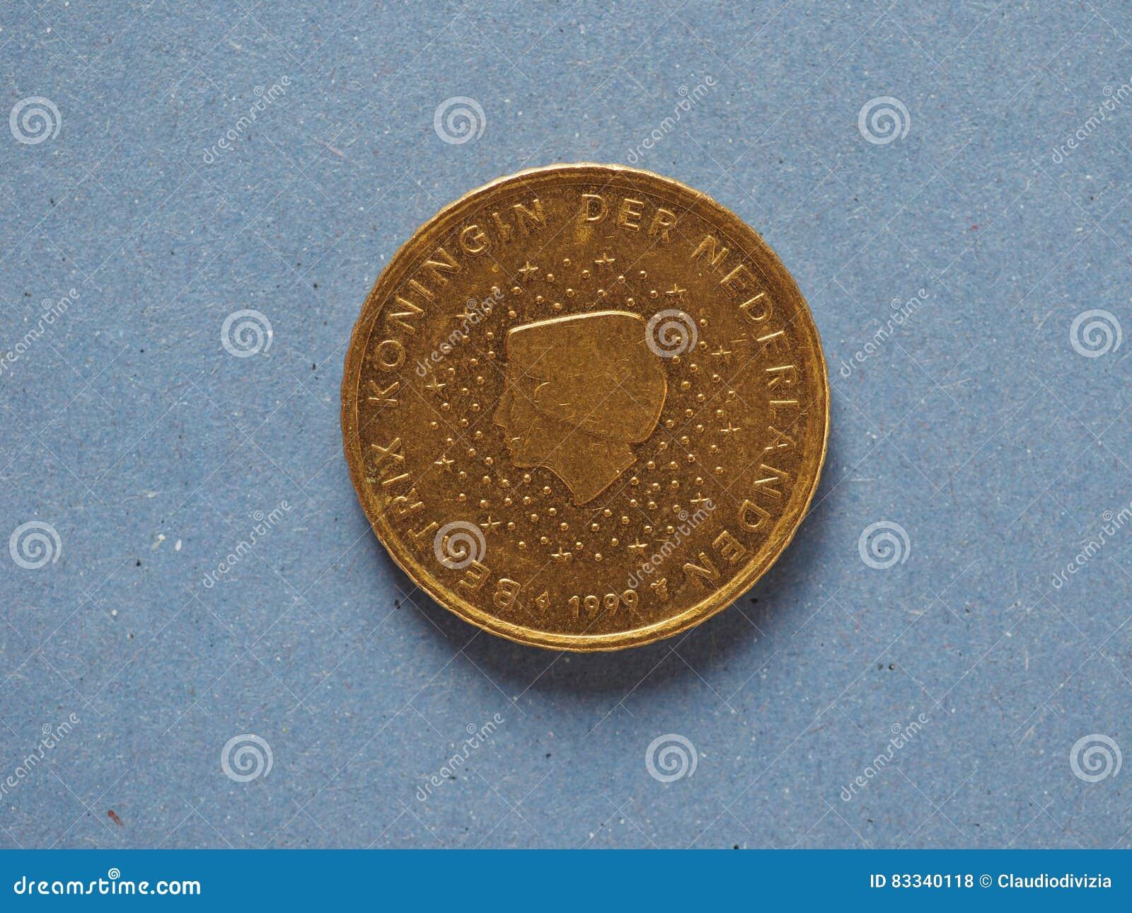 50 Cent Münze Europäische Gemeinschaft Die Niederlande Stockfoto