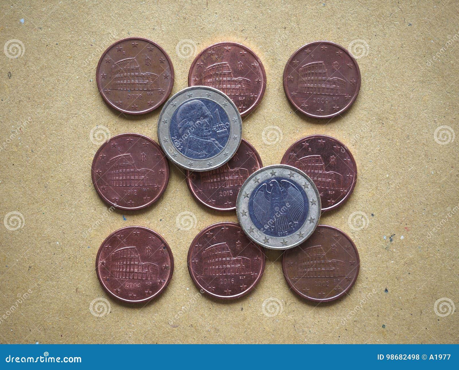 5 Cent Münze Europäische Gemeinschaft Italien Stockfoto Bild Von