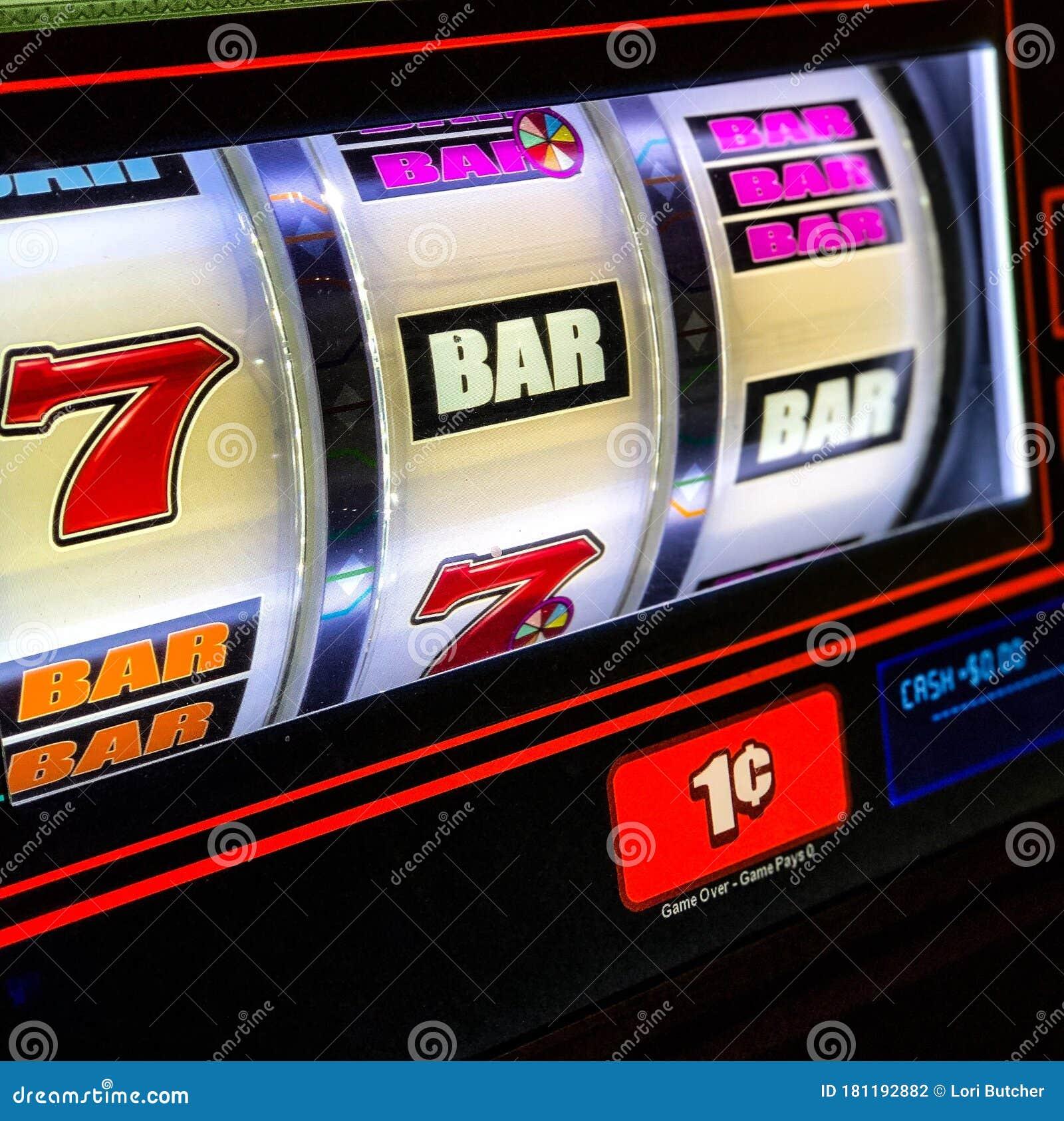 Close View Of Penny Slot Machine Stock Photo Image Of Vegas