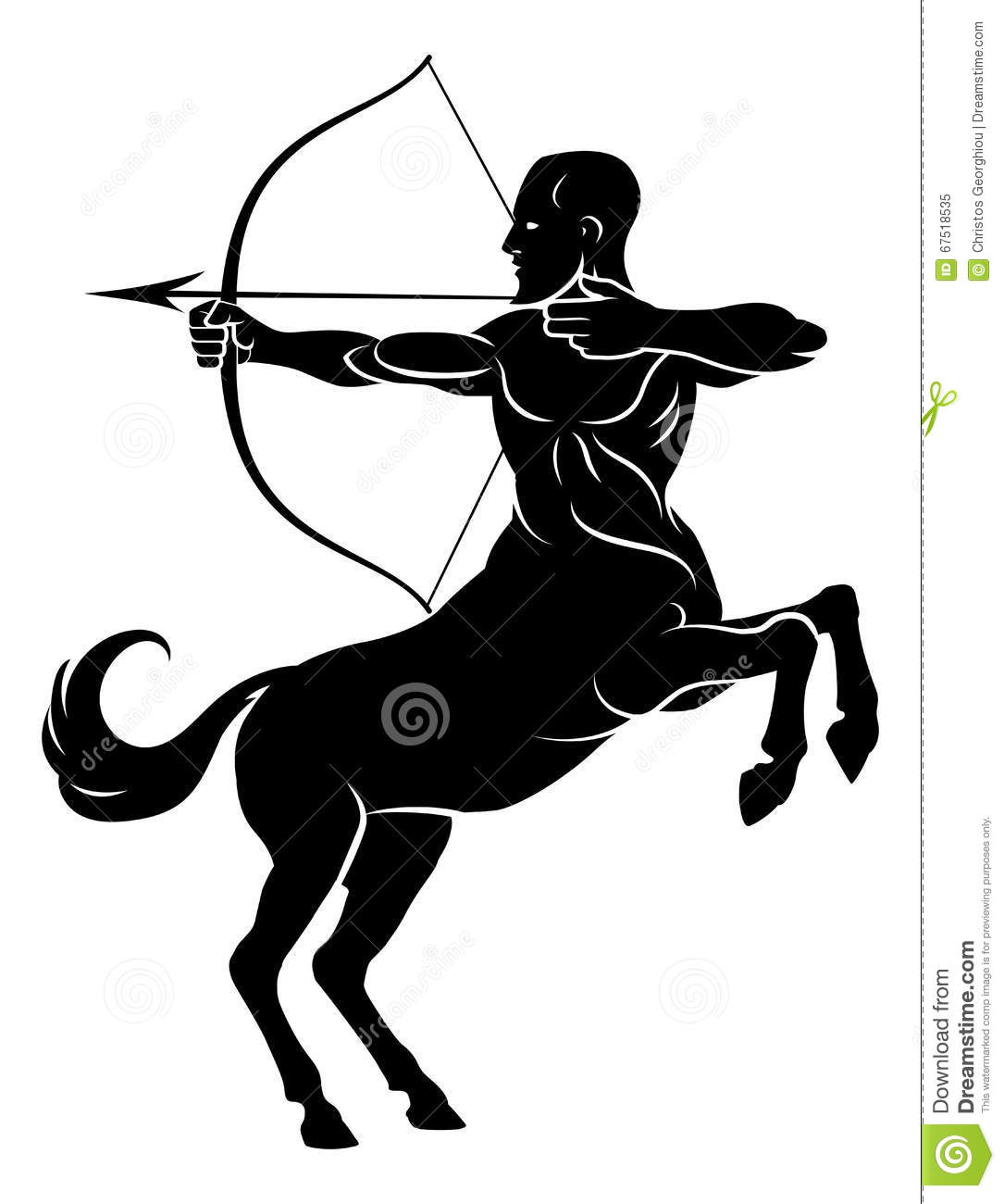 Centaur With Bow And Arrow Stock Vector - Image: 67518535
