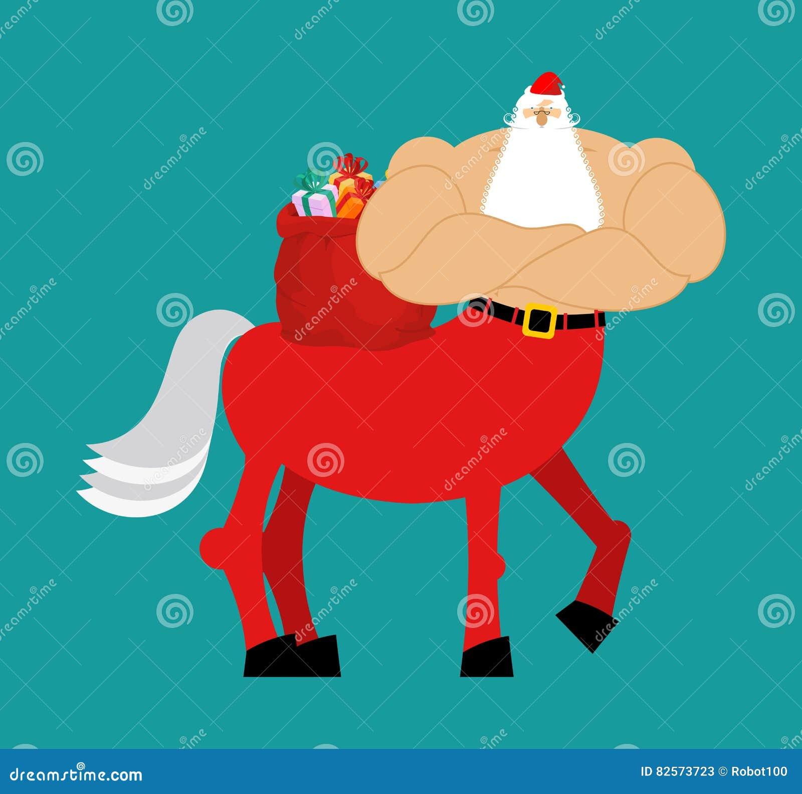 Centauro di santa claus mostro di santa mezzo cavallo del mezzo uomo