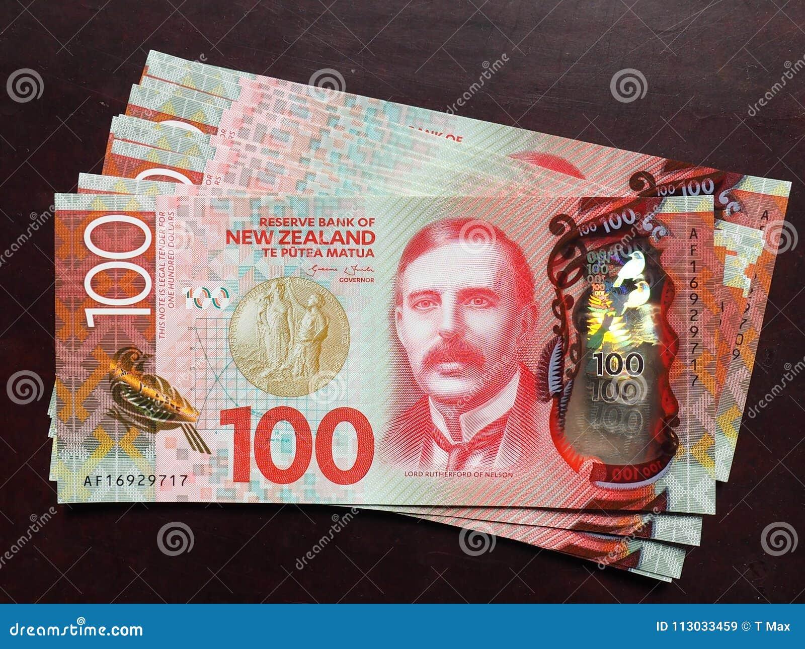 Centenares del billete de banco de Nueva Zelanda