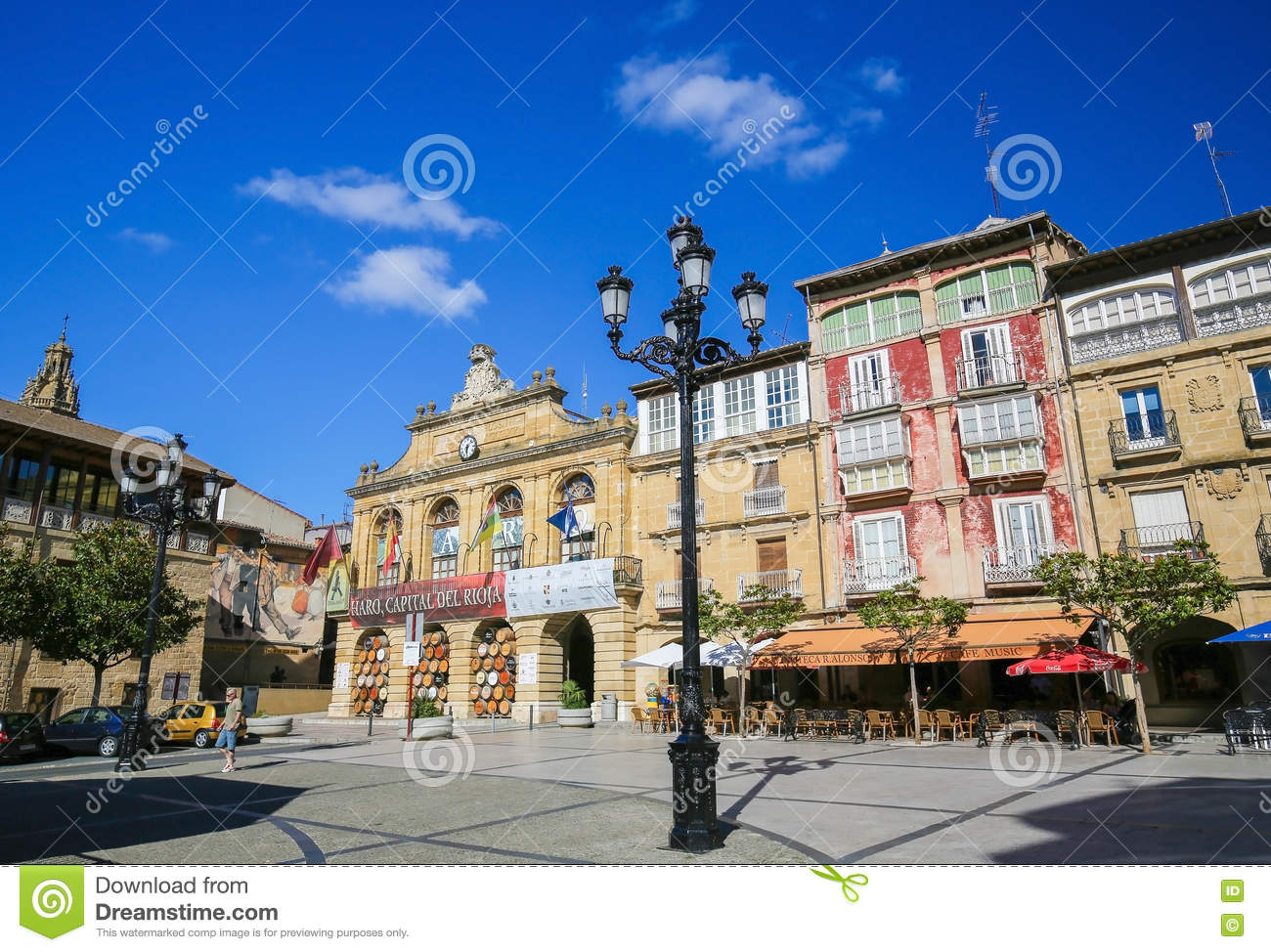Capital Of Rioja center of haro in la rioja, spain editorial stock image - image of