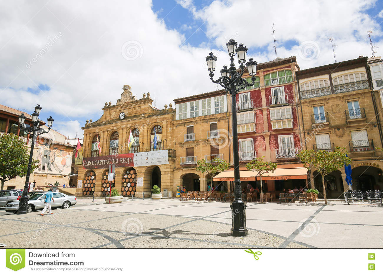 Capital Of Rioja center of haro in la rioja, spain editorial photo - image of tourism