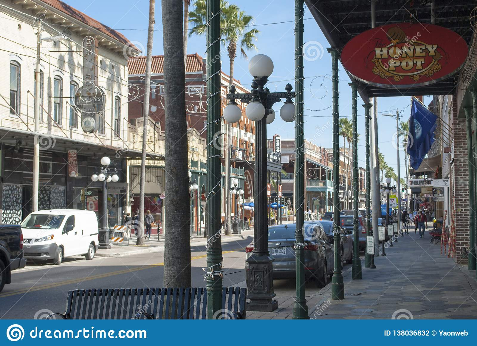 Tampa Ybor City Famous 7th Street With Shops Restaurants