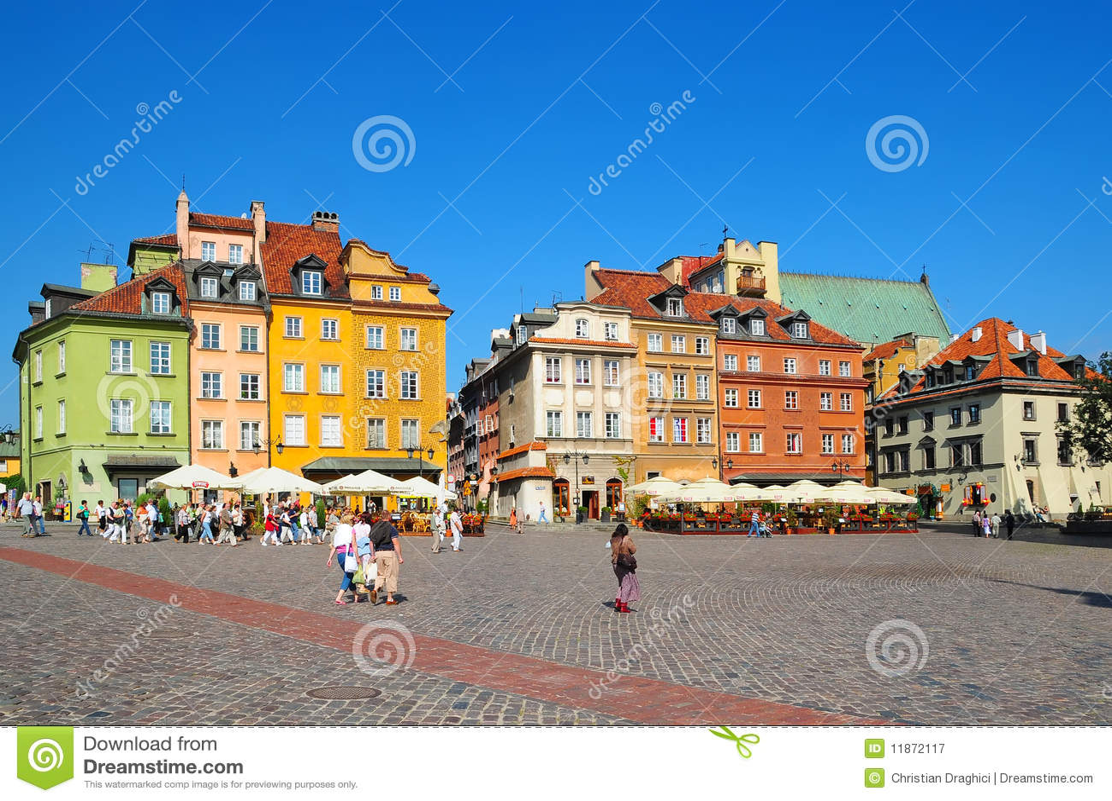 Center of Warsaw, Poland