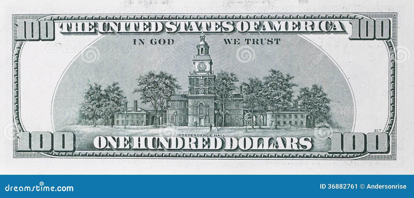 Download Cento dollari di banconota immagine stock. Immagine di abbondanza - 36882761
