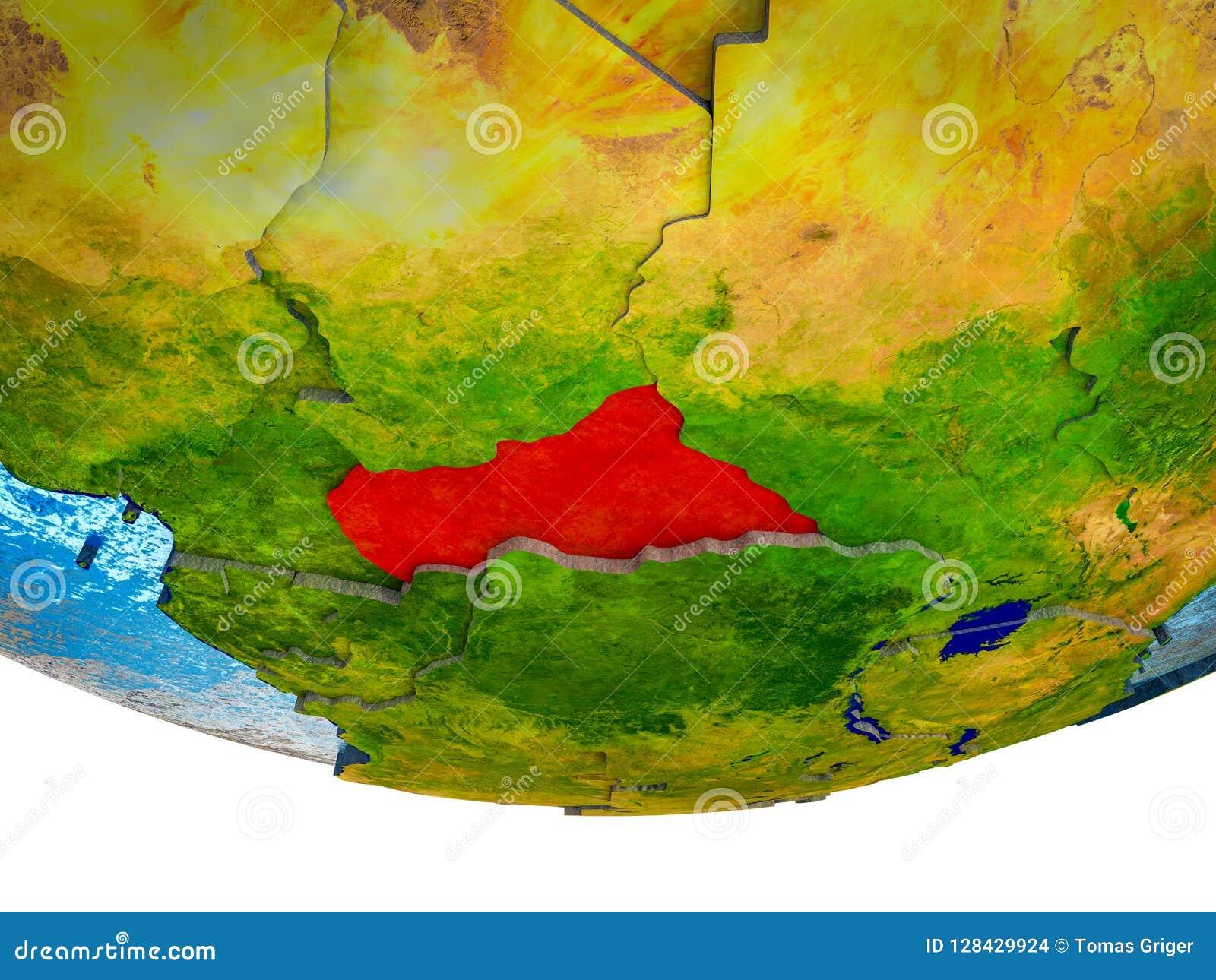 Centraal-Afrika op 3D Aarde