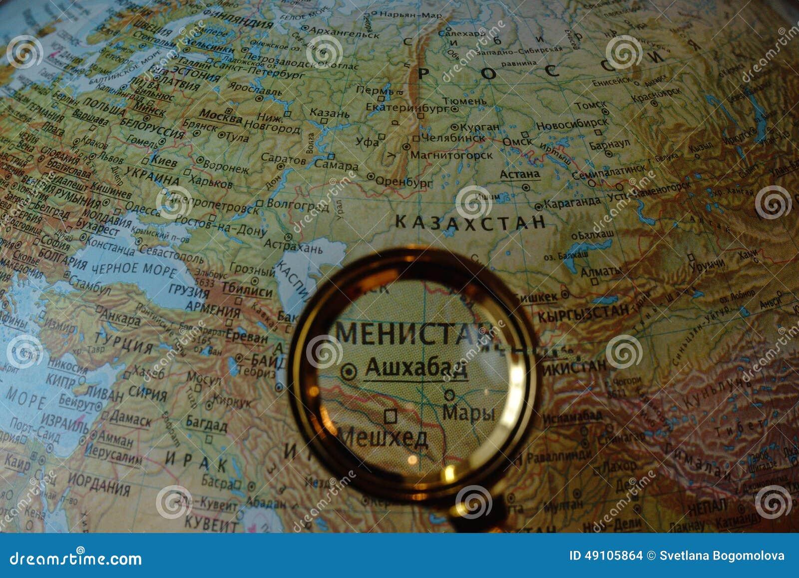 Centraal-Azië op Russische kaart