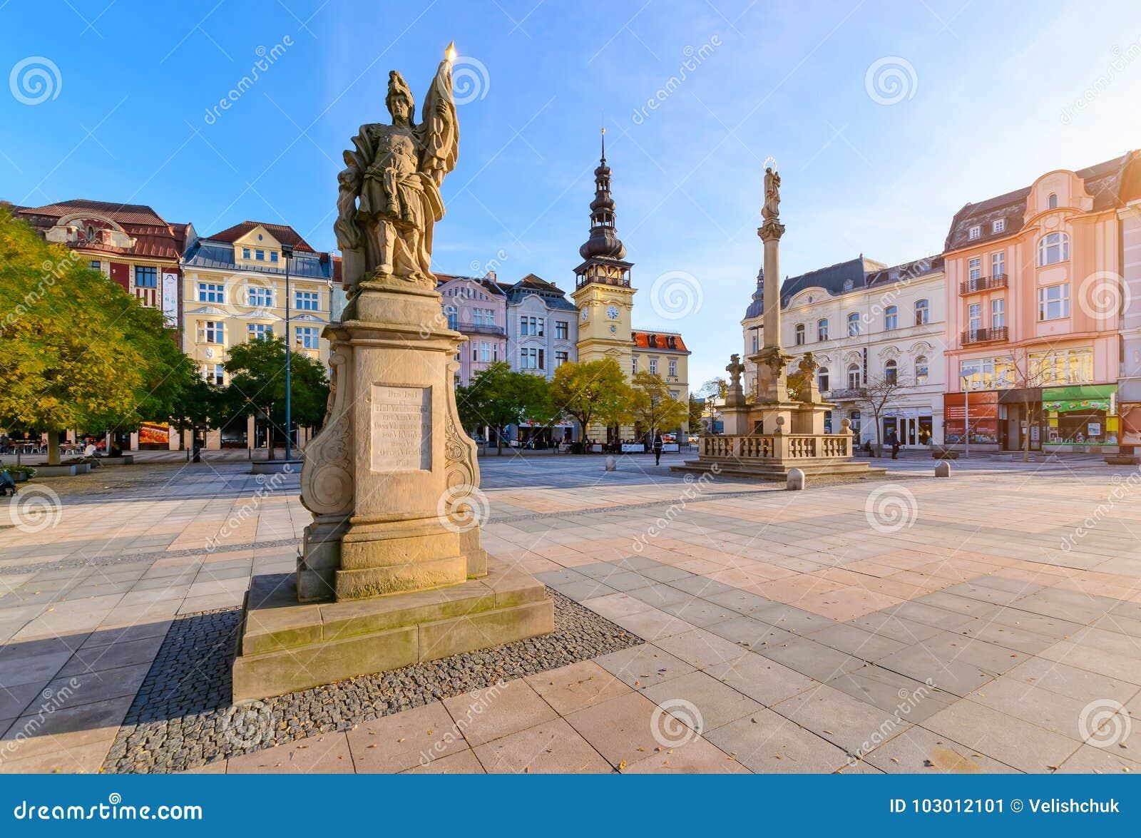 Centraal vierkant van de Tsjechische Republiek van Ostrava