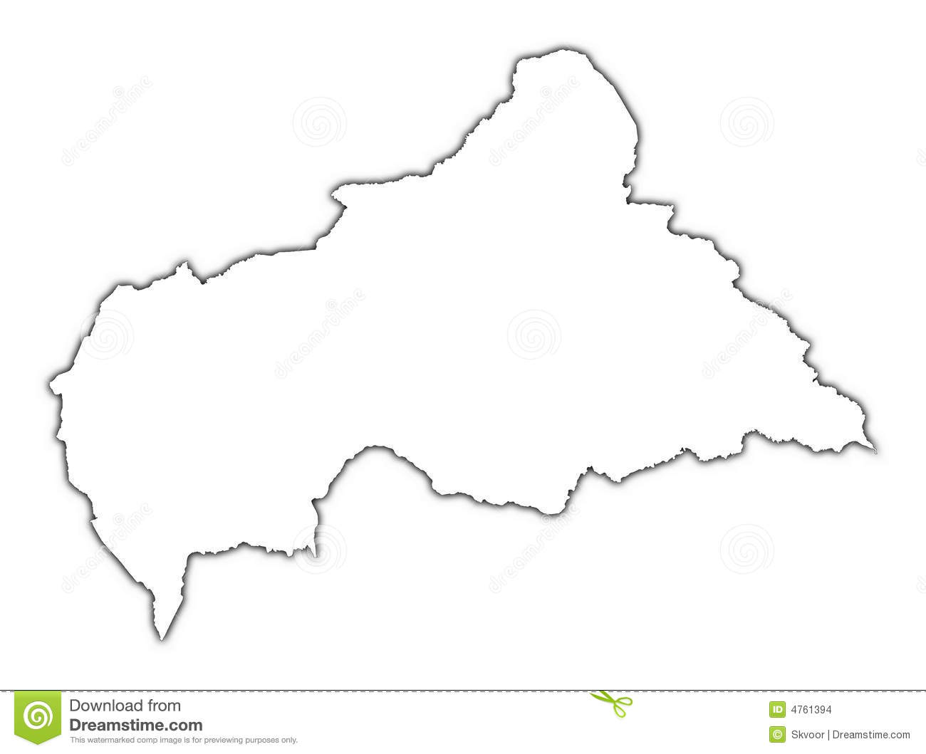 Central African Republic Map Stock Illustration   Illustration of