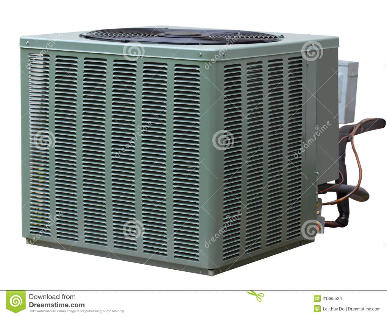 Residential high efficiency central air conditioner outside unit. #83A328