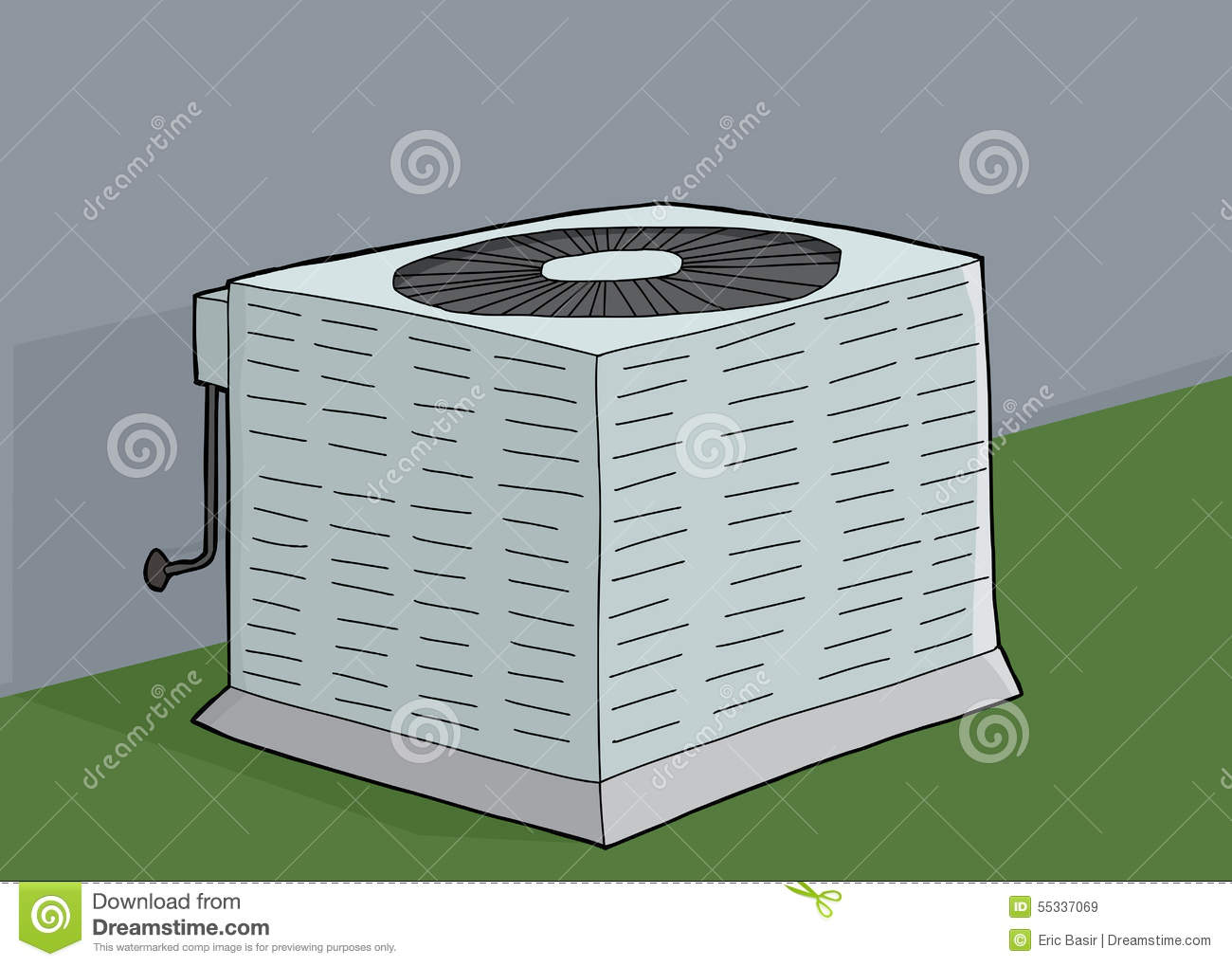 Central Air Conditioner Stock Illustration Image: 55337069 #83A328