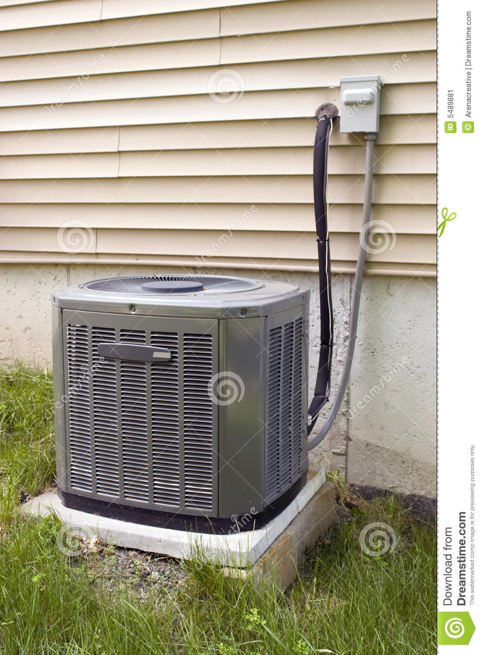 Central Air Conditioning Stock Image Image 5489881